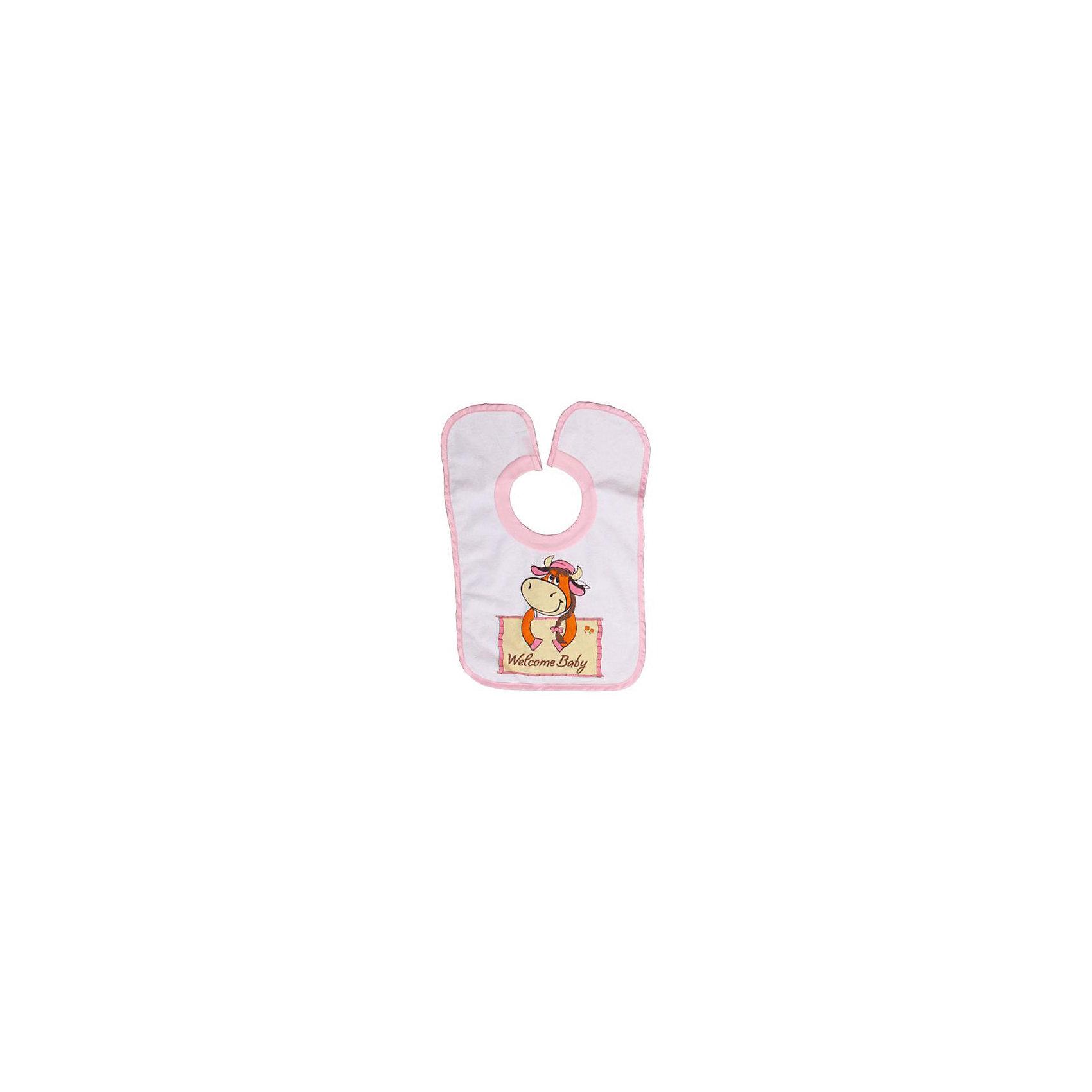 Нагрудник махровый на липучке Корова Sevi baby, розовыйНагрудник махровый на липучке Корова Sevi baby, розовый – яркий нагрудник для малыша, который только учится быть аккуратным во время еды.<br>Нагрудник Sevi Baby с красочным изображением коровы и надписью на английском языке «Добро пожаловать, малыш» прекрасно подойдет для кормления ребенка. Нагрудник выполнен из натуральной экологически чистой махровой ткани с мягким непромокаемым слоем с внутренней стороны. Ткань отлично впитывает влагу. Нагрудник оснащен удобной горловиной-резинкой и застежкой-липучкой. Sevi Baby - это одежда для самых маленьких, созданная с пониманием и заботой о комфорте и здоровье ребенка! Одежда Sevi Baby соответствует Международному стандарту Eko-Tex-Standard 100, группа 1 - Ткань, достойная доверия.<br><br>Дополнительная информация:<br><br>- Возраст: от 3 месяцев до 1 года<br>- Верхний слой: 80% хлопок, 20% полиэстер<br>- Подкладка: 100% полиуретан<br>- Размер упаковки: 36 х 24 х 5 см.<br><br>Нагрудник махровый на липучке Корова Sevi baby, розовый можно купить в нашем интернет-магазине.<br><br>Ширина мм: 360<br>Глубина мм: 240<br>Высота мм: 50<br>Вес г: 80<br>Цвет: розовый<br>Возраст от месяцев: 3<br>Возраст до месяцев: 12<br>Пол: Женский<br>Возраст: Детский<br>SKU: 4236865