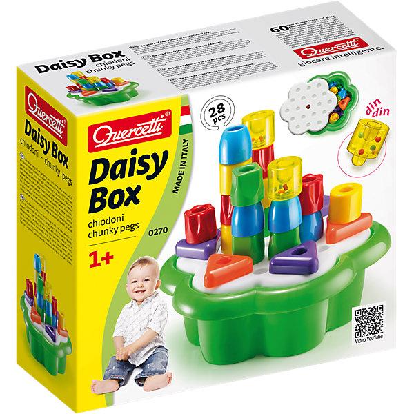 Конструктор Quercetti Замок, 20 деталейРазвивающие игрушки<br>Характеристики товара:<br><br>• возраст: от 1 года;<br>• материал: пластмасса;<br>• количество деталей: 20;<br>• в наборе: 8 фишек-цилиндров, 6 элементов стены, 2 элемента стен с башенными краями, 2 элемента крыши, игровое поле, контейнер для хранения; <br>• размер упаковки: 33х30х14 см.;<br>• вес упаковки: 1 кг.;<br>• страна бренда: Италия.<br><br>Набор геометрических фигурок Quercetti «Замок» содержит элементы разных форм и цветов, которые можно объединить в необычные сооружения на специальной основе. Эта основа служит также крышкой для контейнера.<br><br>Детали легко скрепляются между собой и с платформой с помощью штырьков. Конструктор развивает цветовосприятие, логическое мышление, фантазию. Набор выполнен из прочного нетоксичного пластика.<br><br>Набор геометрических фигурок «Замок», Quercetti можно купить в нашем интернет-магазине.<br>Ширина мм: 338; Глубина мм: 314; Высота мм: 129; Вес г: 1154; Возраст от месяцев: 12; Возраст до месяцев: 36; Пол: Женский; Возраст: Детский; SKU: 4238247;