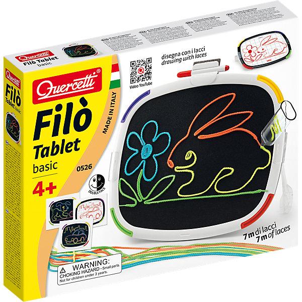 Доска для рисования Quercetti, ФилоКоврики и доски для рисования<br>Характеристики товара:<br><br>• возраст: от 4 лет;<br>• в комплекте: 1 двухсторонняя доска для рисования, 4 специальных ручки, 12 ниток по 60 см, инструкция;<br>• материал: пластик;<br>• размер упаковки: 36х28х5,5 см;<br>• вес упаковки: 484 гр.<br><br>Доска для рисования Quercetti, Фило является одновременно развлекательной и развевающей игрушкой для ребенка.Рисование на такой доске производится с помощью специальных ручек, в которые вставляются разноцветные нити. В итоге у вашего ребенка получатся веселые цветные картинки. Доска для рисования Фило показывает, что для воображения нет пределов! <br><br>Доска для рисования Quercetti, Фило можно купить в нашем интернет-магазине.<br>Ширина мм: 364; Глубина мм: 286; Высота мм: 55; Вес г: 484; Возраст от месяцев: 48; Возраст до месяцев: 72; Пол: Унисекс; Возраст: Детский; SKU: 4238252;