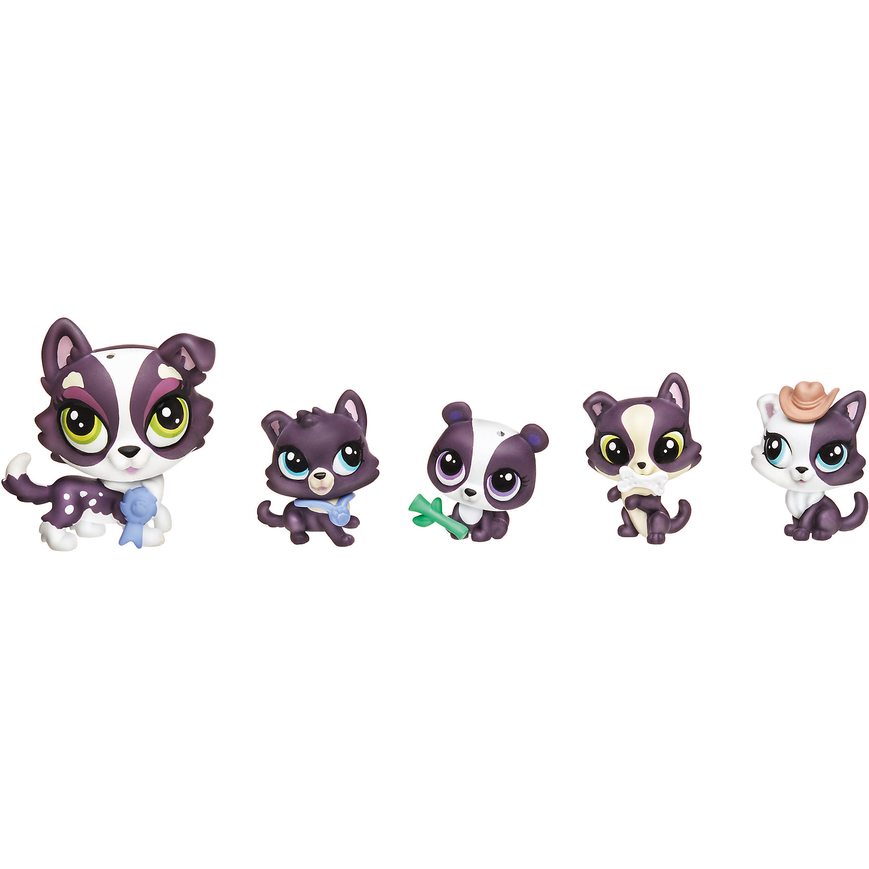 Игровой набор Большая семейка, Littlest Pet Shop, в ассортиментеКоллекционные и игровые фигурки<br>Отличный набор очаровательных зверюшек, которых мечтает иметь в своей коллекции каждая девочка. В каждом есть мама и ее 4 маленьких детеныша. Посмотрите внимательно, и ты увидишь, что один ребенок не из ее семьи! Ты можешь собрать все наборы и помочь маленькой зверюшке найти свою семью, или разыграть забавную историю о том, как все детишки перемешались. В ассортименте 4 набора.<br><br>Ширина мм: 38<br>Глубина мм: 229<br>Высота мм: 203<br>Вес г: 136<br>Возраст от месяцев: 48<br>Возраст до месяцев: 144<br>Пол: Женский<br>Возраст: Детский<br>SKU: 4238350