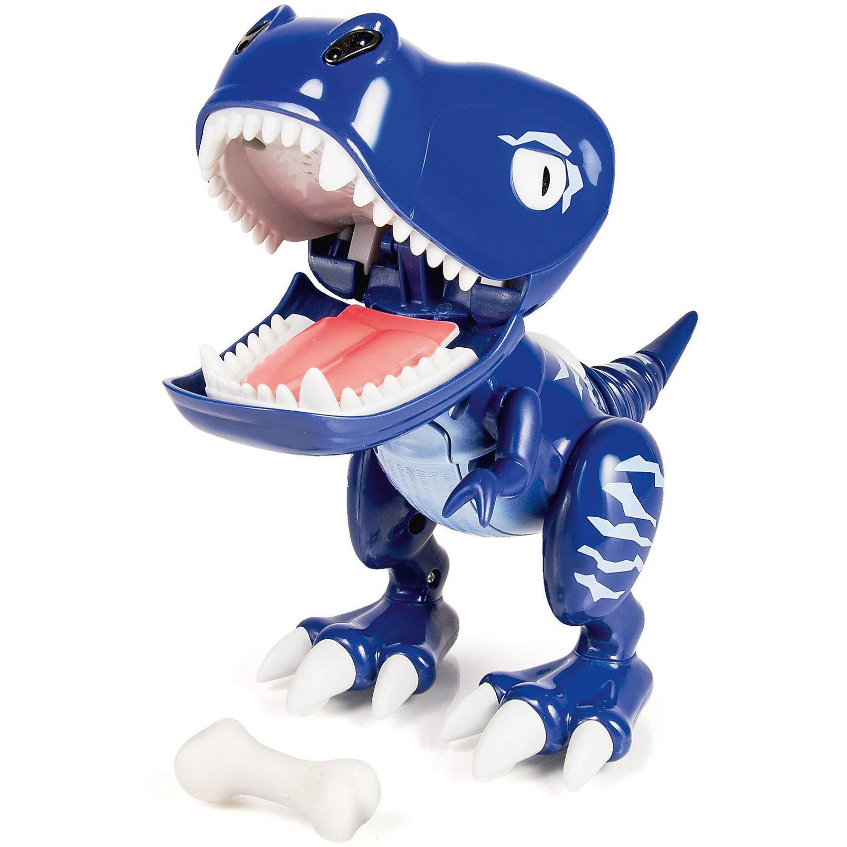 Интерактивный детёныш динозавра Tiger Tail, Dino Zoomer, Spin MasterДинозавры и драконы<br>Настоящий детеныш динозавра у вас дома! Дети придут в восторг от такой замечательной игрушки! Глаза динозавра меняют цвет в зависимости от настроения и режима игры. Малыш выглядит и ведет себя как настоящий динозавр, он чавкает, рычит, сопит, смеётся.  Потяни его за хвост, и он разозлится. Поиграй с Дино - в комплекте  идёт специальный аксессуар. Бросай его в рот Дино. Если попадешь, он закроет рот, если промахнешься, Дино будет над тобой смеяться. Не дай ему откусить твой палец – игра на скорость реакции: успей вынуть палец изо рта Дино, пока он тебя не укусил. Дино еще маленький и не научился ходить: передвигай его рукой сам. Но зато малыш - динозавр уже умеет защищать себя и своего хозяина: он будет рычать, если что-то будет приближаться близко к нему.  <br><br>Дополнительная информация:<br><br>- Материал: пластик. <br>- Элемент питания: 3 ААА батарейки (не входят в комплект)<br>- Световые и звуковые эффекты.<br>- Встроенный ИК датчик.<br>- Цвет глаз изменяется.<br>- Косточка в комплекте.<br><br>Интерактивного детёныша динозавра Dino Zoomer, Spin Master (Спин Мастер), можно купить в нашем магазине.<br><br>Ширина мм: 139<br>Глубина мм: 182<br>Высота мм: 261<br>Вес г: 489<br>Возраст от месяцев: 36<br>Возраст до месяцев: 108<br>Пол: Унисекс<br>Возраст: Детский<br>SKU: 4241259