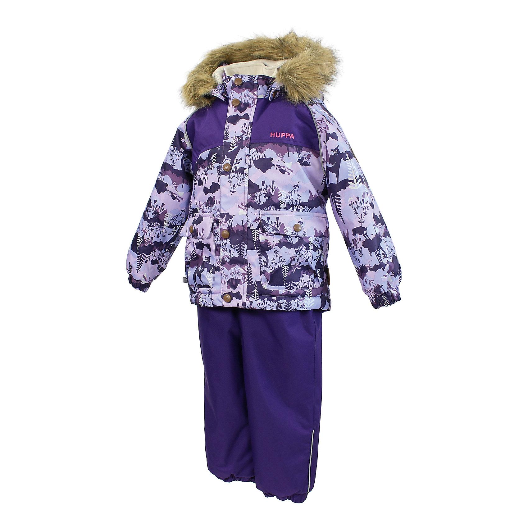 """Комплект для девочки: куртка и полукомбинезон HuppaВерхняя одежда<br>Модный комплект для малышей ярких цветов из двух частей с достаточно легким ватином. У куртки интересного покроя приятно мягкая подкладка """"Coral-fleece"""" в районе тела и подкладка из тафты в рукавах для облегчения прохождения рук. У брюк с высоким поясом также приятная подкладка """"Coral-fleece"""", а на спинке резинка для удобства ношения. Проклеенные швы на задней части и боках комбинезона позволят малышу беззаботно наслаждаться зимними радостями, оставаясь в сухости и тепле. На любимом комплекте малышей имеется капюшон со съемным мехом, регулируемые резиновые подтяжки и два хороших кармана для хранения находок.  <br><br>Дополнительная информация:<br><br>Температурный режим: от -10 до -25<br>HuppaTherm 200 грамм<br>Высокотехнологичный лёгкий синтетический утеплитель нового поколения, сохраняет объём и высокую теплоизоляцию изделия, а также легко стирается и быстро сохнет.<br>Влагоустойчивая и дышащая ткань 10 000/ 10 000<br>Мембрана препятствует прохождению воды и ветра сквозь ткань внутрь изделия, позволяя испаряться выделяемой телом, образовывающейся внутри влаге.<br>Проклеенные швы<br>Для максимальной влагонепроницаемости изделия, важнейшие швы проклеены водостойкой лентой.<br>Прочная ткань<br>Сплетения волокон в тканях выполнены по специальной технологии, которая придаёт ткани прочность и предохранят от истирания.<br>Светоотражательные детали<br>При плохих погодных условиях или в темноте, когда свет падает на одежду, он отражается, делая ребёнка более заметным, уменьшая возможность несчастных случаев.<br>Ткань: 100% полиэстер<br>Подкладка: Куртка: Coral-fleece смесь хлопка и полиэстра, тафта - 100% полиэстер; полукомбинезон: Coral-fleece смесь хлопка и полиэстра<br>Шаговый шов, боковые швы проклеены<br>Утеплитель: 100% полиэстер Куртка 200г, Полукомбинезон 160г .<br>Капюшон с отстёгивающимся мехом<br><br>Комплект для девочки: куртка и полукомбинезон Huppa можно купить в нашем магазине.<br><br>Ширин"""