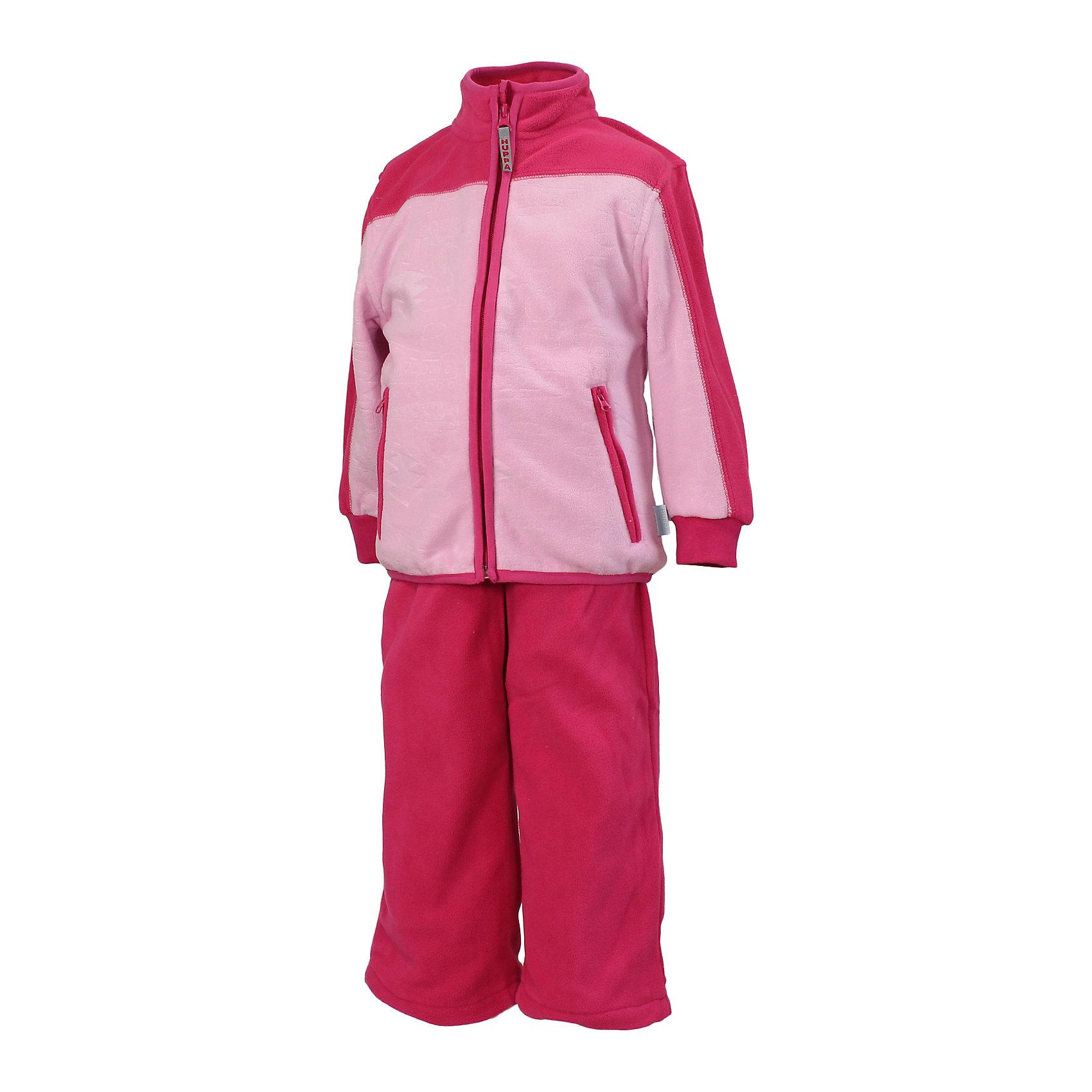 Комплект для девочки: куртка и брюки HuppaМягкий флисовый комплект для детей, в котором будет приятно играть в прохладную погоду. Комплект идеально подходит и для надевания под верхнюю одежду. Для удобства ношения на куртке имеются карманы на молнии и рукава с резинкой, а на брюках регулируемый пояс и нижние концы штанин. <br><br>Дополнительная информация:<br><br>Ткань: флис - 100% полиэстер<br><br>Комлект для девочки: Куртку и брюки Huppa (Хуппа) можно купить в нашем магазине.<br><br>Ширина мм: 356<br>Глубина мм: 10<br>Высота мм: 245<br>Вес г: 519<br>Цвет: розовый<br>Возраст от месяцев: 72<br>Возраст до месяцев: 84<br>Пол: Женский<br>Возраст: Детский<br>Размер: 122,134,128,110,104,98,116<br>SKU: 4242707