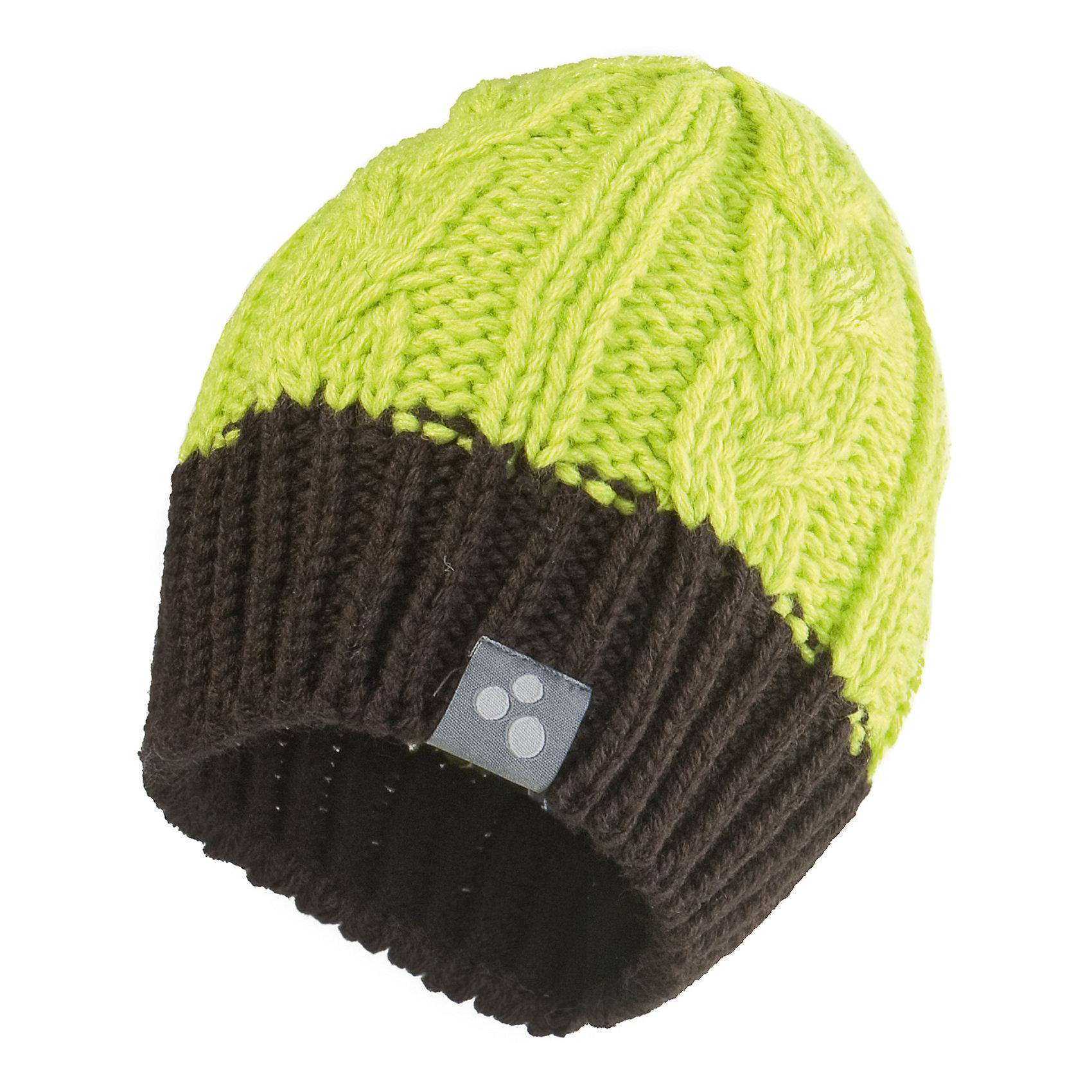 Шапка HuppaГоловные уборы<br>Зимняя вязаная шапка с косичками для мальчиков. Шапка связана из 50% мериносовой шерсти и 50% акриловой пряжи. Резинка контрастных оттенков защищает уши от холодного ветра. Приятная шапка предназначена для ношения в более мягкую зимнюю погоду их хорошо сочетается с любой верхней одеждой.<br><br>Шапку Huppa (Хуппа) можно купить в нашем магазине.<br><br>Ширина мм: 89<br>Глубина мм: 117<br>Высота мм: 44<br>Вес г: 155<br>Цвет: зеленый<br>Возраст от месяцев: 36<br>Возраст до месяцев: 60<br>Пол: Унисекс<br>Возраст: Детский<br>Размер: 51-53,57,55-57<br>SKU: 4242755
