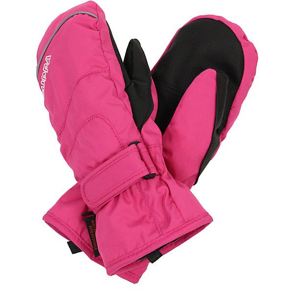 Варежки для девочки HuppaПерчатки, варежки<br>Детские водонепроницаемые зимние варежки с интересными разрезами. У варежек приятная подкладка из полиэстера, в качестве промежуточного слоя - мембрана SKI DRY и хорошо дышащая и водоотталкивающая ткань, которая поможет держать руки в сухости и тепле. Для удобства использования на запястье добавлена регулируемая застежка-липучка, а в качестве украшения добавлена красивая вышивка Huppa (Хуппа) и светоотражающая лента в разрез пальца. Маленькие зажимы в средней части помогут держать пару варежек вместе после использования. <br><br>Утеплитель: 100% полиэстер, 150 гр.<br><br>Варежки для девочки Huppa (Хуппа) можно купить в нашем магазине.<br><br>Ширина мм: 162<br>Глубина мм: 171<br>Высота мм: 55<br>Вес г: 119<br>Цвет: розовый<br>Возраст от месяцев: 144<br>Возраст до месяцев: 168<br>Пол: Женский<br>Возраст: Детский<br>Размер: 8,7,5,6<br>SKU: 4242769