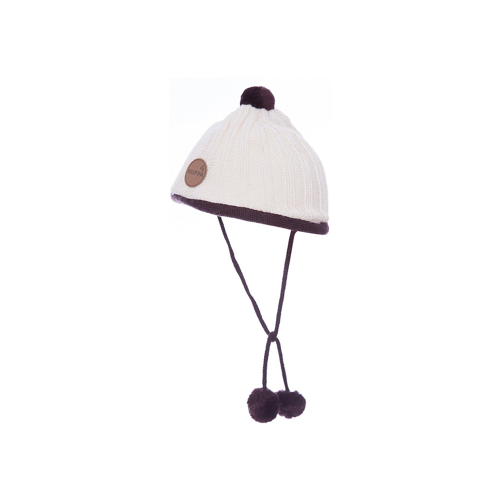 Шапка для девочки HuppaШапочки<br>Вязанная «резинкой» зимняя шапка для малышей. Для удобства ношения у шапки приятная подкладка из хлопкового трикотажа, наружная часть из смеси 50% мериносовой шерсти и 50% акриловой пряжи. Для защиты от холодных ветров у шапки имеются ленты с помпонами, при помощи которых шапку можно завязать и защитить уши от холода. <br><br>Шапку для девочки Huppa (Хуппа) можно купить в нашем магазине.<br><br>Ширина мм: 89<br>Глубина мм: 117<br>Высота мм: 44<br>Вес г: 155<br>Цвет: белый<br>Возраст от месяцев: 9<br>Возраст до месяцев: 12<br>Пол: Женский<br>Возраст: Детский<br>Размер: 43-45,39-43,47-49,51-53<br>SKU: 4242867