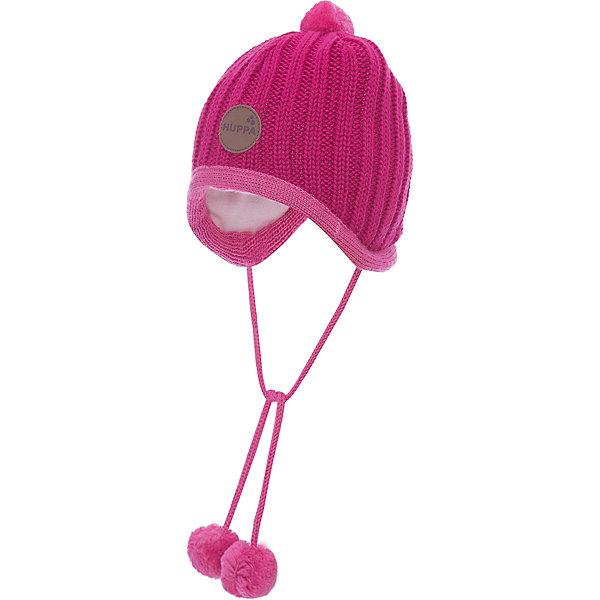 Шапка Huppa Jakob для девочкиШапочки<br>Характеристики товара:<br><br>• модель: Jakob;<br>• цвет: розовый;<br>• состав: 50% шерсть мериноса, 50% акрил; <br>• подкладка: 100% хлопок;<br>• утеплитель: без дополнительного утепления;<br>• сезон: зима;<br>• температурный режим: от 0°С до -25°С;<br>• особенности: вязаная, с помпоном, на завязках;<br>• завязки с помпонами;<br>• эмблема спереди;<br>• страна бренда: Финляндия;<br>• страна изготовитель: Эстония.<br><br>Зимняя вязаная шапка Huppa выполнена из смеси шерсти мериноса и акрила. Для защиты от холодных ветров у шапки имеются ленты с помпонами, при помощи которых шапку можно завязать и защитить уши от холода. Шапка с помпоном.<br><br>Шапку Huppa Jakob (Хуппа) можно купить в нашем интернет-магазине.<br>Ширина мм: 89; Глубина мм: 117; Высота мм: 44; Вес г: 155; Цвет: розовый; Возраст от месяцев: 2; Возраст до месяцев: 5; Пол: Женский; Возраст: Детский; Размер: 39-43,51-53,47-49,43-45; SKU: 4242887;