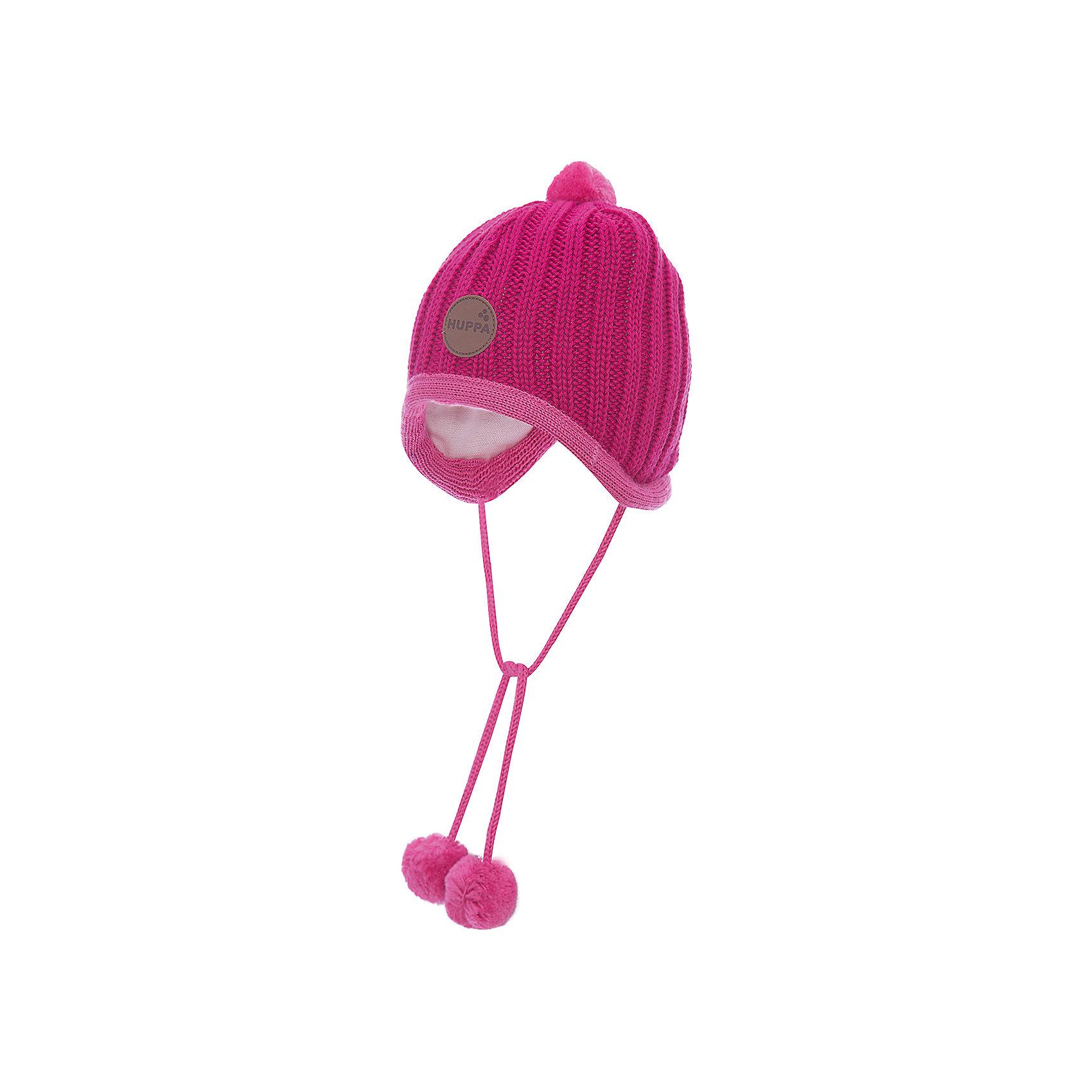 Шапка для девочки HuppaШапочки<br>Вязанная «резинкой» зимняя шапка для малышей. Для удобства ношения у шапки приятная подкладка из хлопкового трикотажа, наружная часть из смеси 50% мериносовой шерсти и 50% акриловой пряжи. Для защиты от холодных ветров у шапки имеются ленты с помпонами, при помощи которых шапку можно завязать и защитить уши от холода. <br><br>Шапку для девочки Huppa (Хуппа) можно купить в нашем магазине.<br><br>Ширина мм: 89<br>Глубина мм: 117<br>Высота мм: 44<br>Вес г: 155<br>Цвет: розовый<br>Возраст от месяцев: 2<br>Возраст до месяцев: 5<br>Пол: Женский<br>Возраст: Детский<br>Размер: 39-43,51-53,43-45,47-49<br>SKU: 4242887