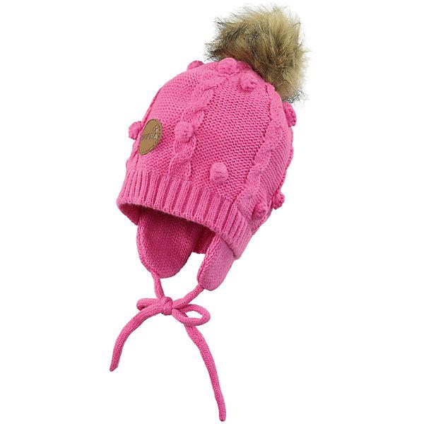 Шапка для девочки HuppaГоловные уборы<br>Зимняя вязаная шапка с косичками для малышей. Подкладка из приятного хлопкового трикотажа и наружная часть из акриловой пряжи. Для удобства ношения у шапки есть ленты и защищающие уши от холода маленькие клапаны. В качестве украшения добавлен модный меховой помпон. <br><br>Шапку для девочки Huppa (Хуппа) можно купить в нашем магазине.<br><br>Ширина мм: 89<br>Глубина мм: 117<br>Высота мм: 44<br>Вес г: 155<br>Цвет: розовый<br>Возраст от месяцев: 9<br>Возраст до месяцев: 12<br>Пол: Женский<br>Возраст: Детский<br>Размер: 43-45,51-53,47-49<br>SKU: 4242892