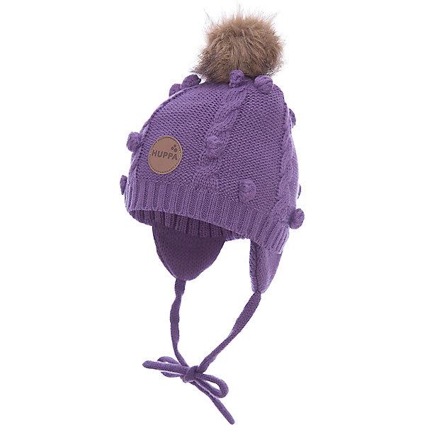 Шапка Huppa Macy для девочкиШапочки<br>Характеристики товара:<br><br>• модель: Macy;<br>• цвет: фиолетовый;<br>• состав: шапка: 100% акрил; <br>• подкладка: 100% хлопок:<br>• температурный режим: от 0°С до -20°С;<br>• особенности: вязаная, с помпоном;<br>• шапка на завязках;<br>• помпон из искусственного меха на макушке;<br>• страна бренда: Финляндия;<br>• страна изготовитель: Эстония.<br><br>Вязаная детская шапка Macy. Теплая вязанная шапочка, прекрасно подойдет для повседневных прогулок в холодную погоду. Шапка изготовлена из 100% акрила, с хлопковой подкладкой.<br><br>Шапку Huppa Macy (Хуппа) можно купить в нашем интернет-магазине.<br><br>Ширина мм: 89<br>Глубина мм: 117<br>Высота мм: 44<br>Вес г: 155<br>Цвет: лиловый<br>Возраст от месяцев: 9<br>Возраст до месяцев: 12<br>Пол: Женский<br>Возраст: Детский<br>Размер: 43-45,51-53,47-49<br>SKU: 4242904
