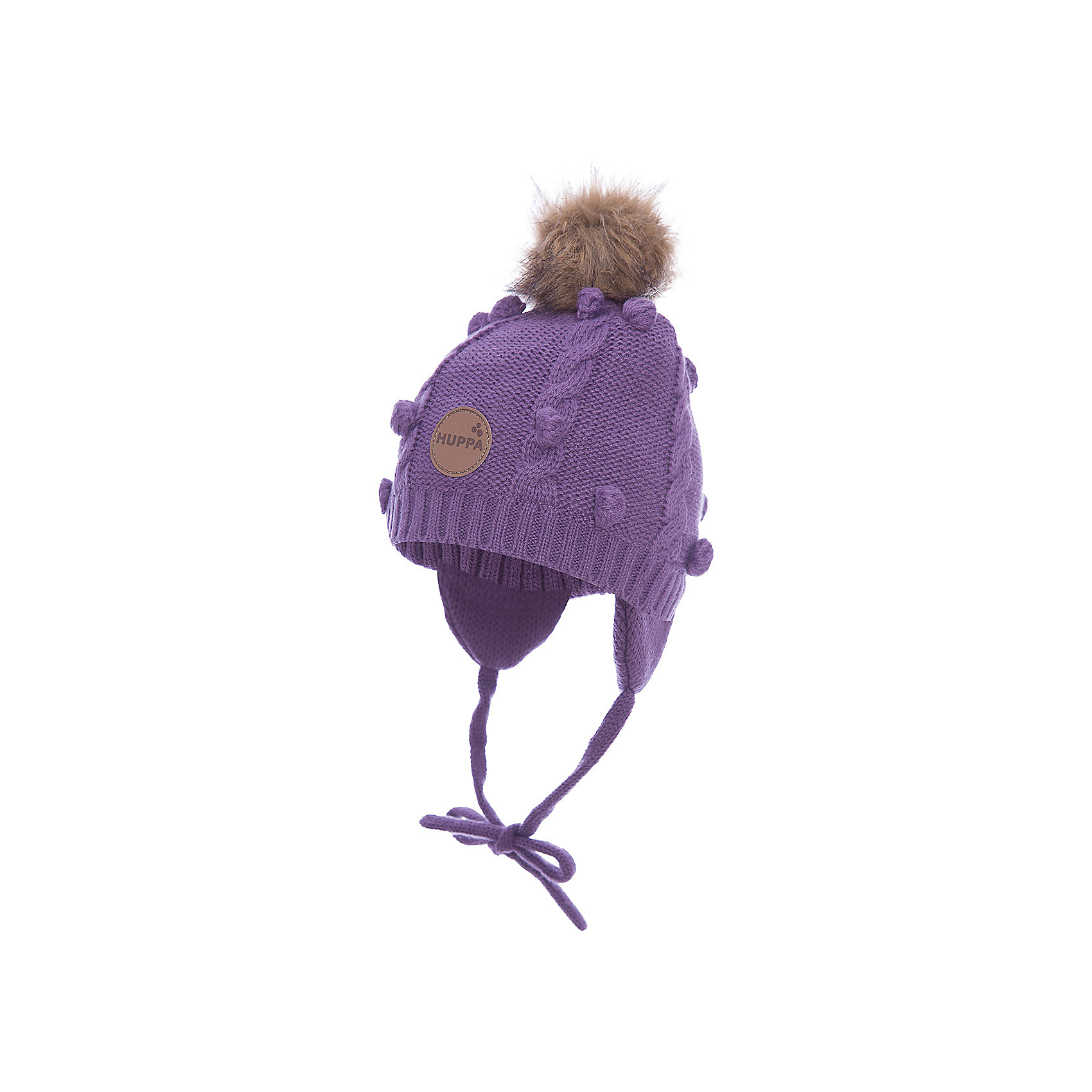 Шапка для девочки HuppaЗимняя вязаная шапка с косичками для малышей. Подкладка из приятного хлопкового трикотажа и наружная часть из акриловой пряжи. Для удобства ношения у шапки есть ленты и защищающие уши от холода маленькие клапаны. В качестве украшения добавлен модный меховой помпон. <br><br>Шапку для девочки Huppa (Хуппа) можно купить в нашем магазине.<br><br>Ширина мм: 89<br>Глубина мм: 117<br>Высота мм: 44<br>Вес г: 155<br>Цвет: фиолетовый<br>Возраст от месяцев: 9<br>Возраст до месяцев: 12<br>Пол: Женский<br>Возраст: Детский<br>Размер: 43-45,51-53,47-49<br>SKU: 4242904