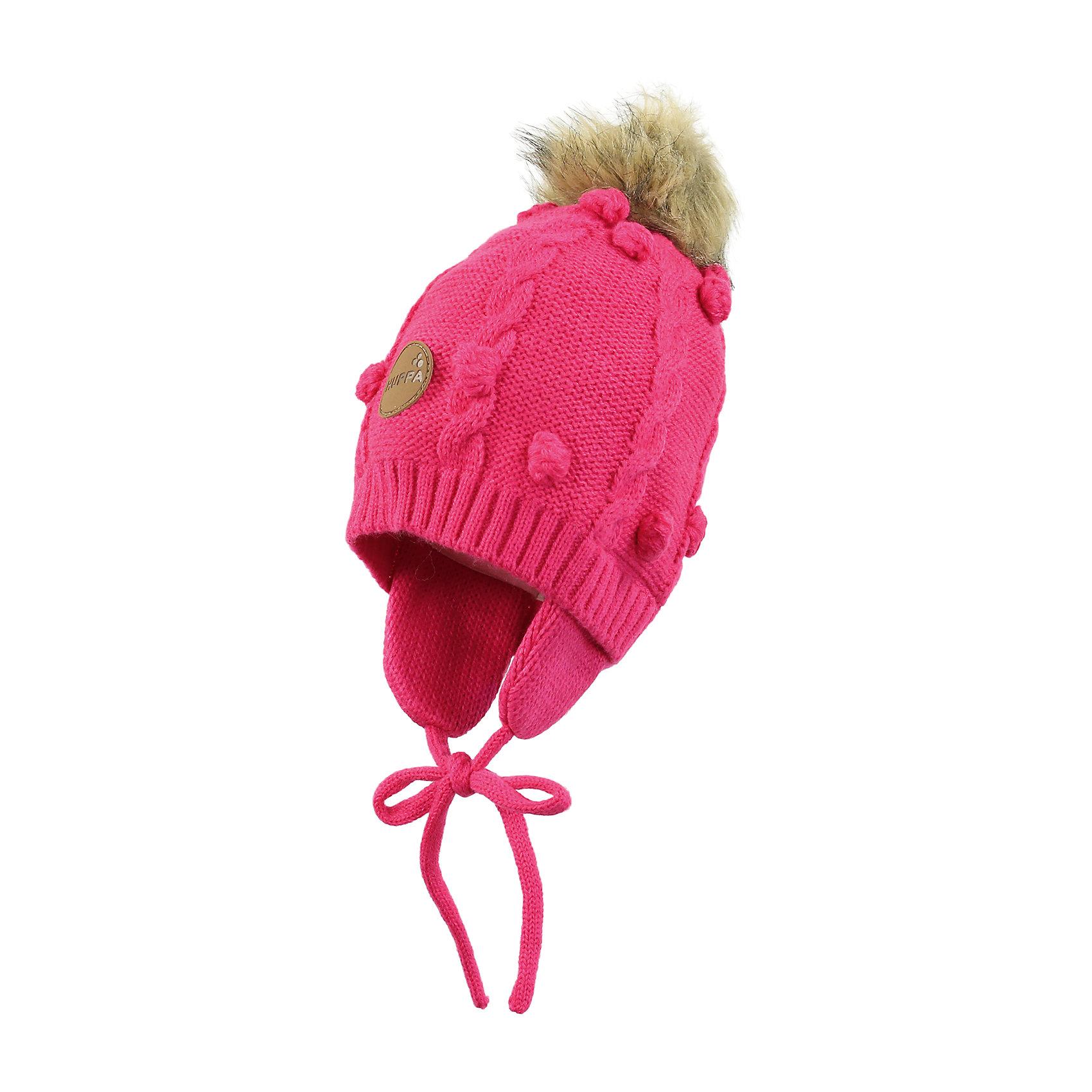 Шапка для девочки HuppaЗимняя вязаная шапка с косичками для малышей. Подкладка из приятного хлопкового трикотажа и наружная часть из акриловой пряжи. Для удобства ношения у шапки есть ленты и защищающие уши от холода маленькие клапаны. В качестве украшения добавлен модный меховой помпон. <br><br>Шапку для девочки Huppa (Хуппа) можно купить в нашем магазине.<br><br>Ширина мм: 89<br>Глубина мм: 117<br>Высота мм: 44<br>Вес г: 155<br>Цвет: розовый<br>Возраст от месяцев: 9<br>Возраст до месяцев: 12<br>Пол: Женский<br>Возраст: Детский<br>Размер: 43-45,47-49,51-53<br>SKU: 4242912