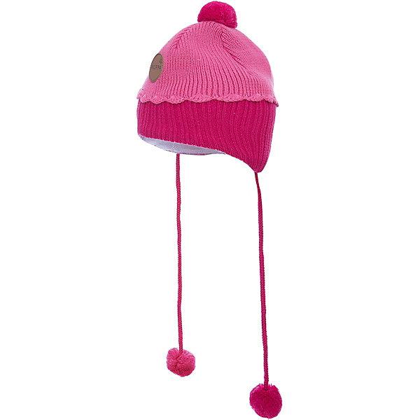 Шапка Huppa Zoe для девочкиЗимние<br>Характеристики товара:<br><br>• модель: Zoe;<br>• цвет: розовый;<br>• состав: 50% шерсть мериноса, 50% акрил; <br>• подкладка: 100% хлопок;<br>• утеплитель: без дополнительного утепления;<br>• сезон: зима;<br>• температурный режим: от 0°С до -25°С;<br>• особенности: вязаная, с помпоном, на завязках;<br>• двухцветная;<br>• завязки с помпонами;<br>• эмблема спереди;<br>• страна бренда: Финляндия;<br>• страна изготовитель: Эстония.<br><br>Зимняя вязаная шапка Huppa выполнена из смеси шерсти мериноса и акрила. Для защиты от холодных ветров у шапки имеются ленты с помпонами, при помощи которых шапку можно завязать и защитить уши от холода. Двухцветная шапка с помпоном.<br><br>Шапку Huppa Zoe (Хуппа) можно купить в нашем интернет-магазине.<br>Ширина мм: 89; Глубина мм: 117; Высота мм: 44; Вес г: 155; Цвет: розовый; Возраст от месяцев: 9; Возраст до месяцев: 12; Пол: Женский; Возраст: Детский; Размер: 43-45,47-49,51-53; SKU: 4242920;