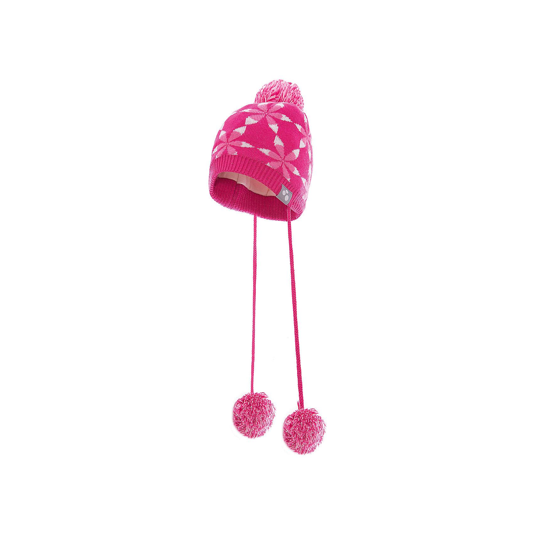 Шапка для девочки HuppaШапочки<br>Красивая зимняя шапка для маленьких девочек с вывязанным рисунком. Для удобства ношения у шапки приятная подкладка из хлопкового трикотажа, наружная часть из смеси 50% мериносовой шерсти и 50% акриловой пряжи. Более интересной шапку делают ленты с помпонами и помпон сверху.<br><br>Шапку для девочки Huppa (Хуппа) можно купить в нашем магазине.<br><br>Ширина мм: 89<br>Глубина мм: 117<br>Высота мм: 44<br>Вес г: 155<br>Цвет: розовый<br>Возраст от месяцев: 9<br>Возраст до месяцев: 12<br>Пол: Женский<br>Возраст: Детский<br>Размер: 43-45,51-53,47-49<br>SKU: 4242948