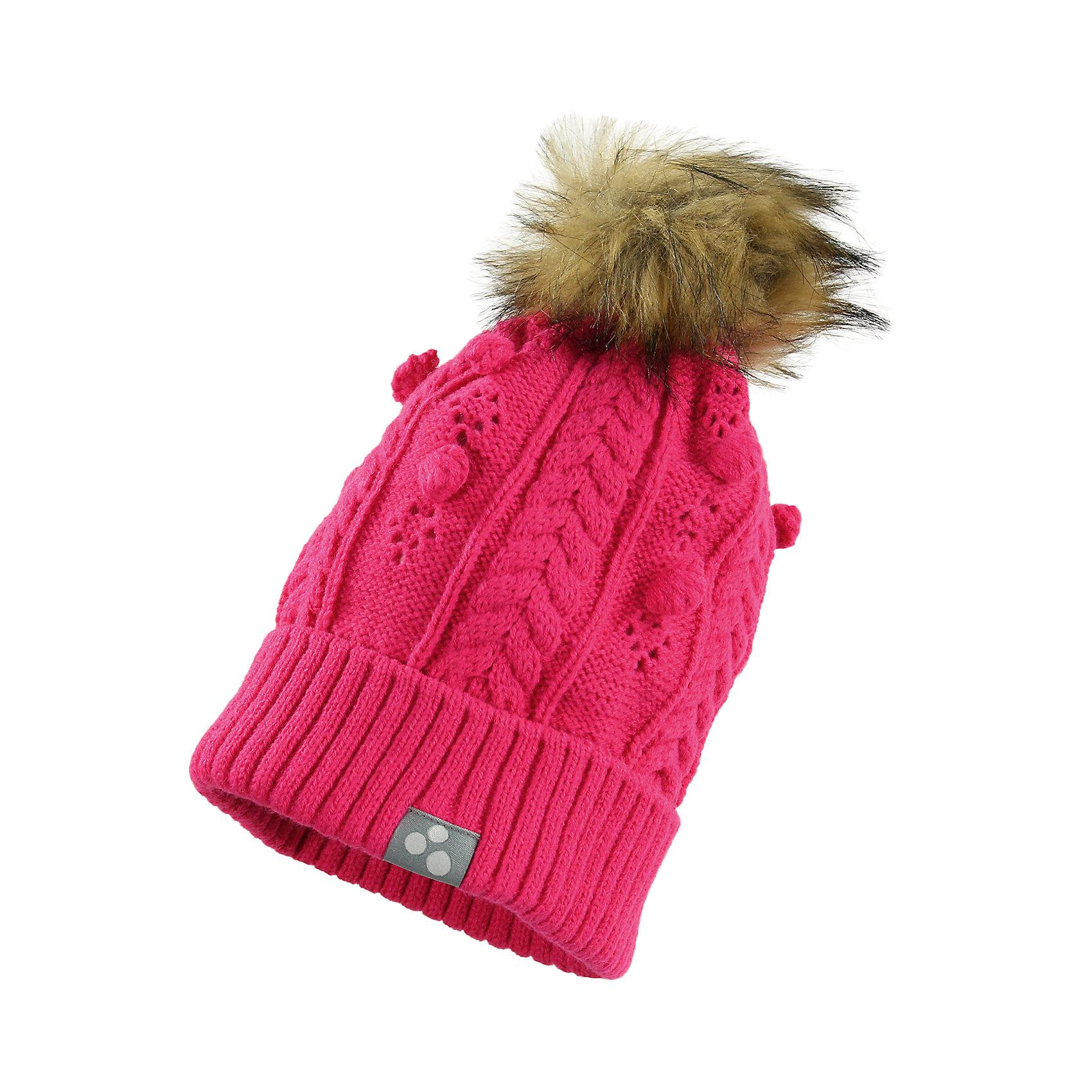 Шапка для девочки HuppaГоловные уборы<br>Милая зимняя вязаная шапка для девочек. Для защиты от холодной погоды шапка связана двойной акриловой пряжей, а вязанный резинкой край завернут. Для украшения на шапке имеется красивый узор и симпатичный меховой помпон, привлекающий внимание. Шапка хорошо сочетается с разной верхней одеждой для девочек.<br><br>Шапку для девочки Huppa (Хуппа) можно купить в нашем магазине.<br><br>Ширина мм: 89<br>Глубина мм: 117<br>Высота мм: 44<br>Вес г: 155<br>Цвет: розовый<br>Возраст от месяцев: 144<br>Возраст до месяцев: 168<br>Пол: Женский<br>Возраст: Детский<br>Размер: 57,55-57,51-53<br>SKU: 4242972