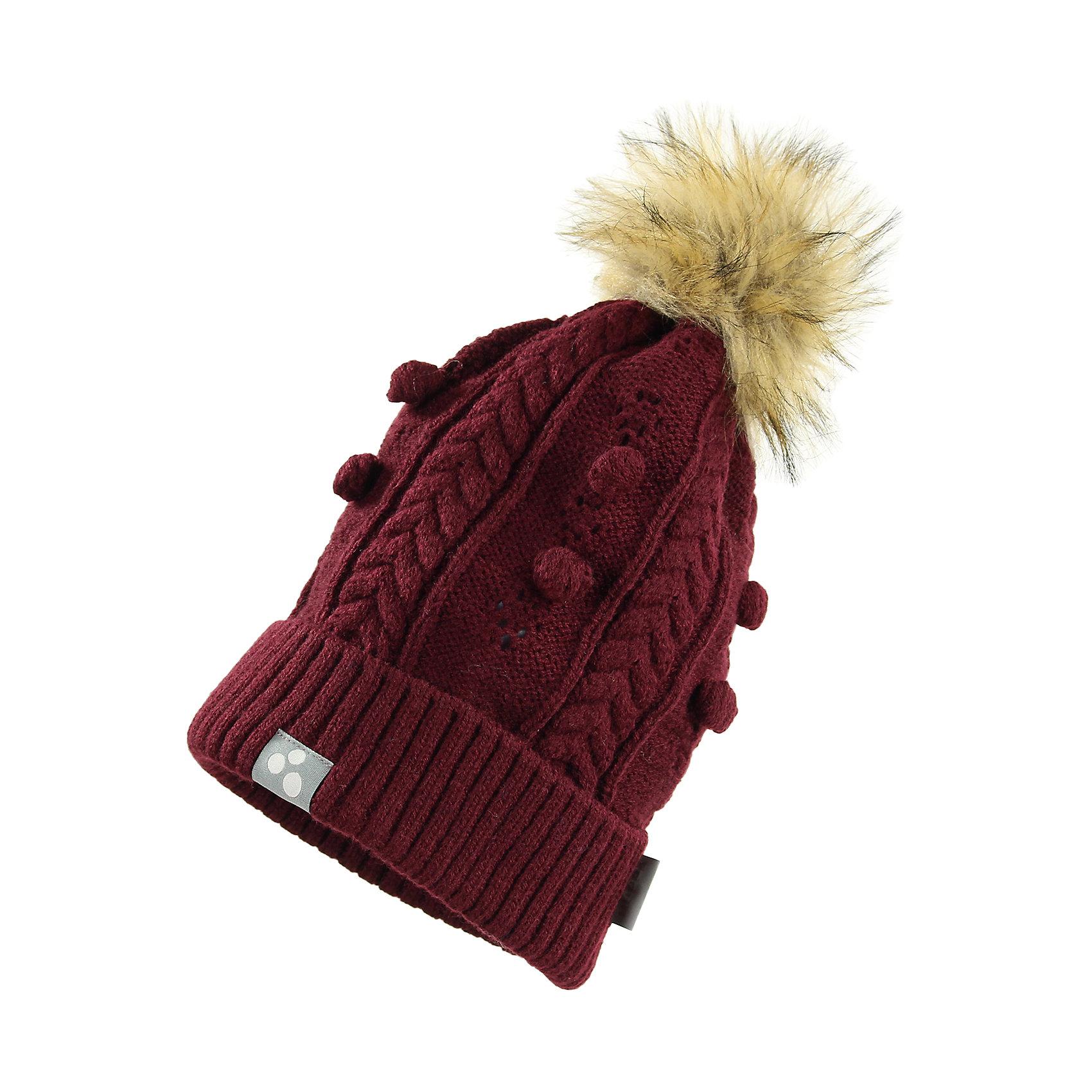 Шапка для девочки HuppaГоловные уборы<br>Милая зимняя вязаная шапка для девочек. Для защиты от холодной погоды шапка связана двойной акриловой пряжей, а вязанный резинкой край завернут. Для украшения на шапке имеется красивый узор и симпатичный меховой помпон, привлекающий внимание. Шапка хорошо сочетается с разной верхней одеждой для девочек.<br><br>Шапку для девочки Huppa (Хуппа) можно купить в нашем магазине.<br><br>Ширина мм: 89<br>Глубина мм: 117<br>Высота мм: 44<br>Вес г: 155<br>Цвет: бордовый<br>Возраст от месяцев: 144<br>Возраст до месяцев: 168<br>Пол: Женский<br>Возраст: Детский<br>Размер: 57,55-57,51-53<br>SKU: 4242976