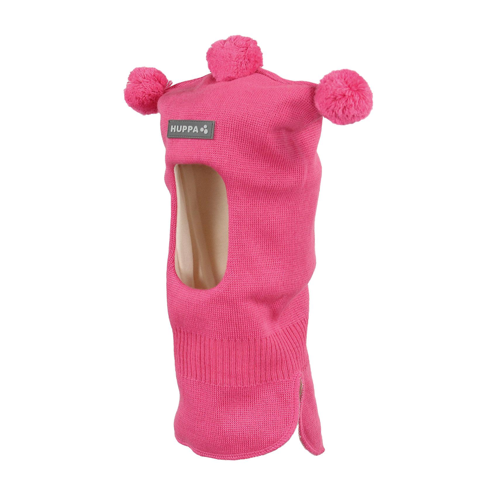 Шапка-шлем для девочки HuppaКлассическая детская шапка-шлем с тремя помпонами. У шапки подкладка из хлопкового трикотажа, наружная часть из смеси 50% мериносовой шерсти и 50% акриловой пряжи. Шапка-шлем идеальна для ношения в зимние холода, потому что защищает шею и уши ребенка от холодного ветра. Особенно удобно ее надевать ребенку самому, потому что вместо двух аксессуаров нужно надеть только один. <br><br>Шапку-шлем для девочки Huppa (Хуппа) можно купить в нашем магазине.<br><br>Ширина мм: 89<br>Глубина мм: 117<br>Высота мм: 44<br>Вес г: 155<br>Цвет: розовый<br>Возраст от месяцев: 9<br>Возраст до месяцев: 12<br>Пол: Женский<br>Возраст: Детский<br>Размер: 43-45,55-57,47-49,51-53<br>SKU: 4243003