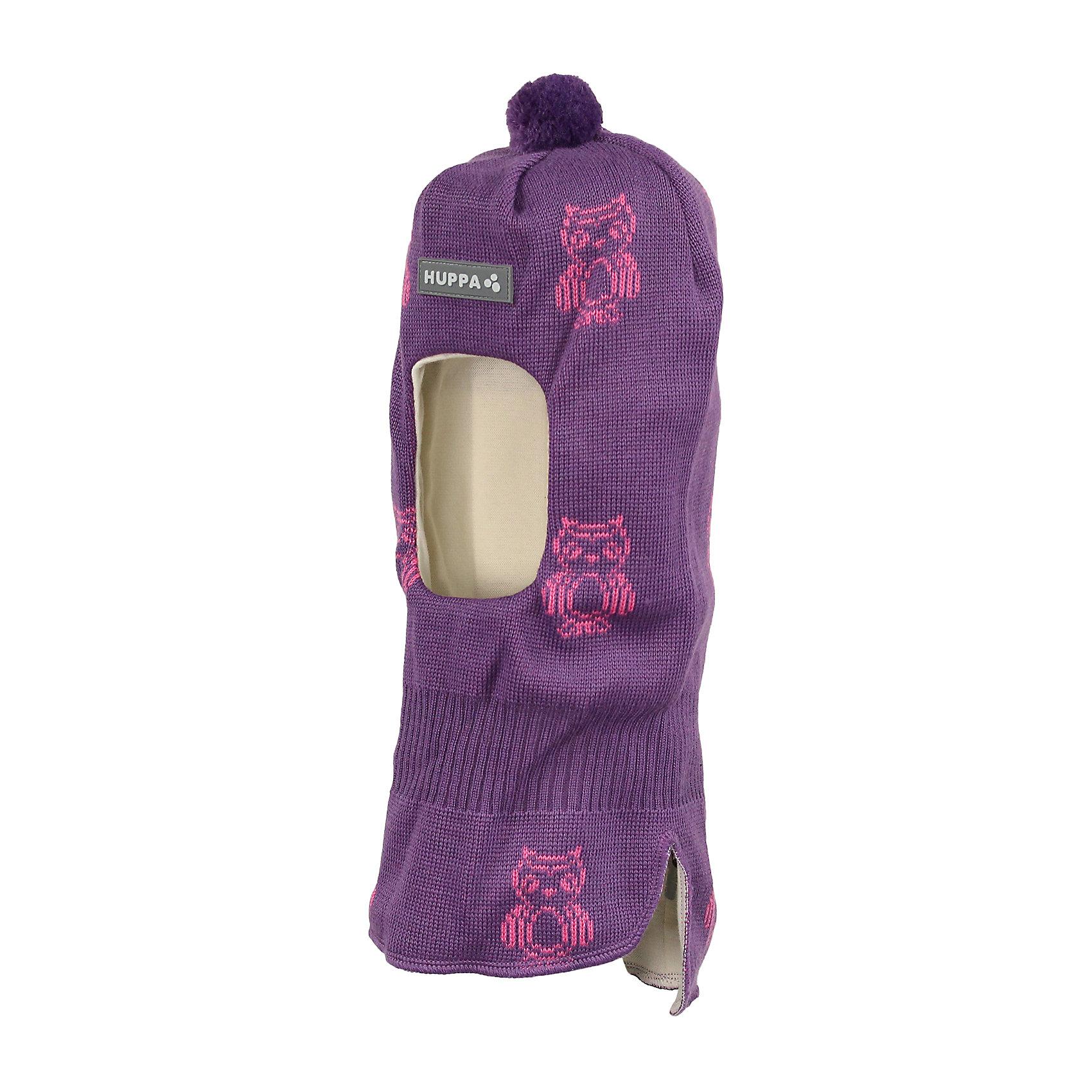 Шапка-шлем для девочки HuppaВязаная шапка-шлем с симпатичными совами для малышей. У шапки подкладка из хлопкового трикотажа, наружная часть из смеси 50% мериносовой шерсти и 50% акриловой пряжи. Шапка-шлем с одним помпоном идеальна для прогулок во дворе в зимние холода, потому что защищает шею и уши ребенка от холодного ветра. Особенно удобно ее надевать ребенку самому, потому что вместо двух аксессуаров нужно надеть только один.<br><br>Шапку-шлем для девочки Huppa (Хуппа) можно купить в нашем магазине.<br><br>Ширина мм: 89<br>Глубина мм: 117<br>Высота мм: 44<br>Вес г: 155<br>Цвет: фиолетовый<br>Возраст от месяцев: 9<br>Возраст до месяцев: 12<br>Пол: Женский<br>Возраст: Детский<br>Размер: 43-45,51-53,47-49<br>SKU: 4243036