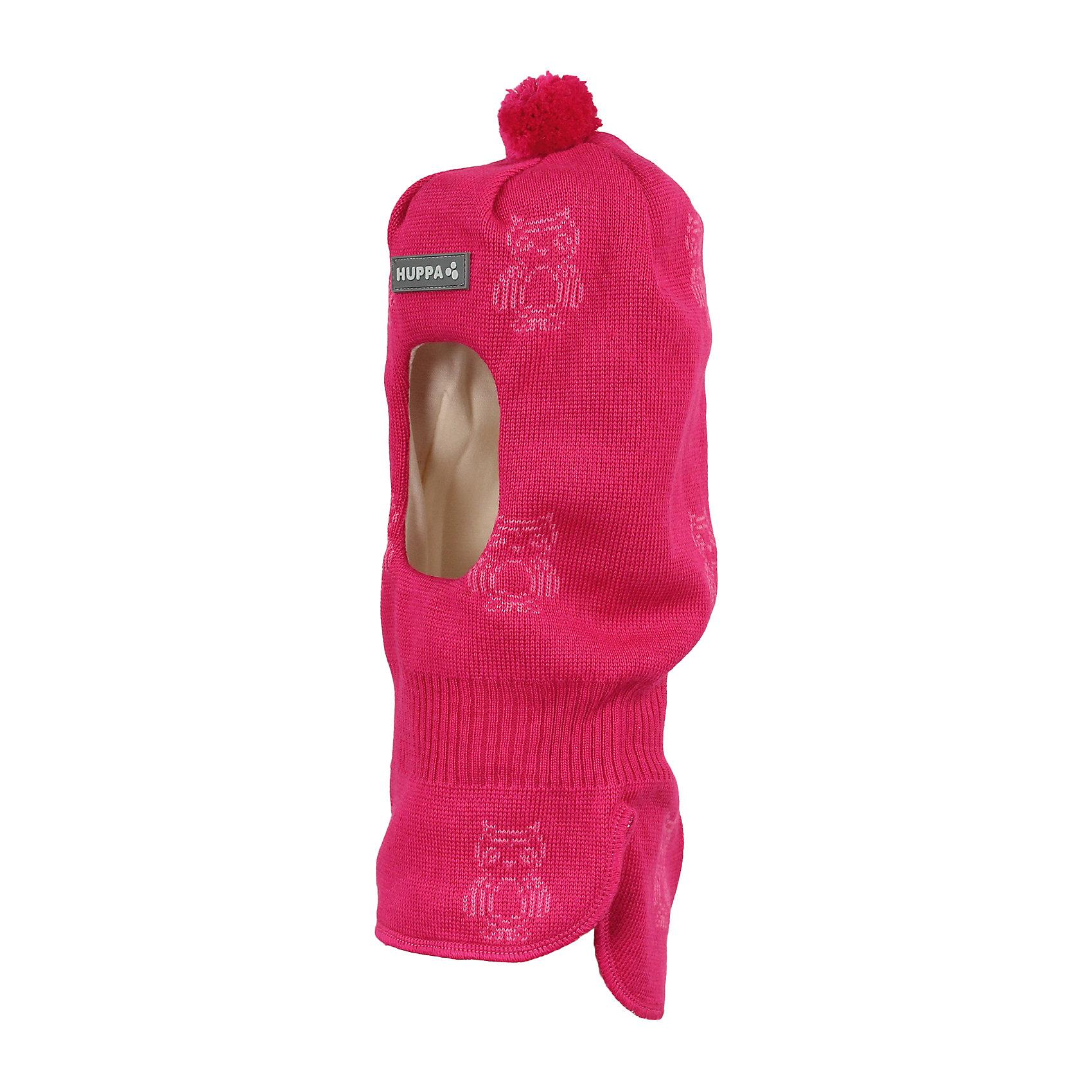 Шапка-шлем для девочки HuppaГоловные уборы<br>Вязаная шапка-шлем с симпатичными совами для малышей. У шапки подкладка из хлопкового трикотажа, наружная часть из смеси 50% мериносовой шерсти и 50% акриловой пряжи. Шапка-шлем с одним помпоном идеальна для прогулок во дворе в зимние холода, потому что защищает шею и уши ребенка от холодного ветра. Особенно удобно ее надевать ребенку самому, потому что вместо двух аксессуаров нужно надеть только один.<br><br>Шапку-шлем для девочки Huppa (Хуппа) можно купить в нашем магазине.<br><br>Ширина мм: 89<br>Глубина мм: 117<br>Высота мм: 44<br>Вес г: 155<br>Цвет: розовый<br>Возраст от месяцев: 9<br>Возраст до месяцев: 12<br>Пол: Женский<br>Возраст: Детский<br>Размер: 43-45,47-49,51-53<br>SKU: 4243040