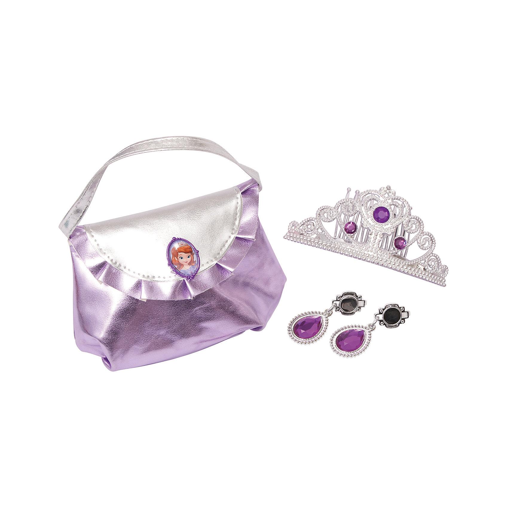 Набор из 3-х предметов: диадема, серьги и сумочка
