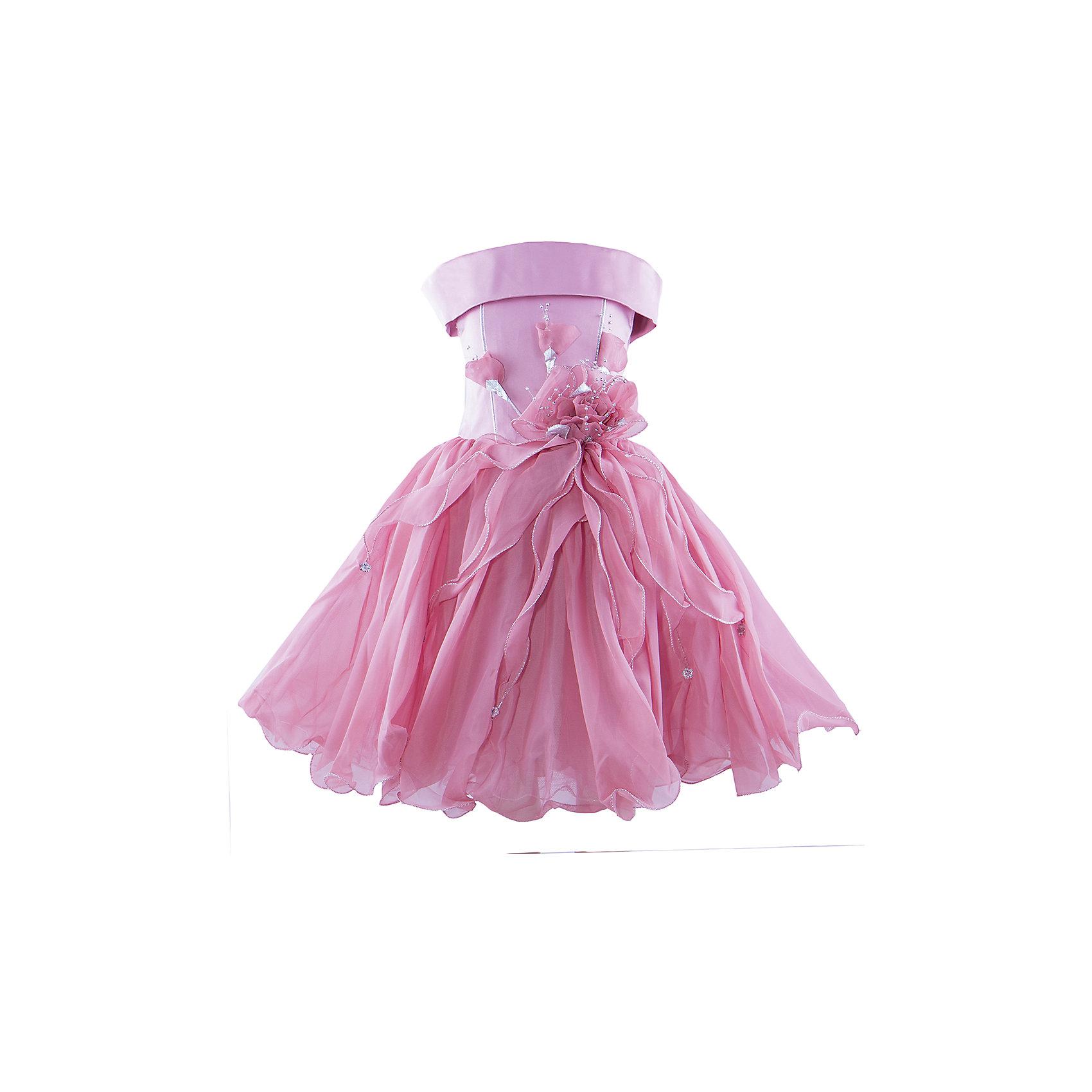 Нарядное платье ШармельОдежда<br>Нарядное платье для девочки от российской марки Шармель<br><br>Красивое пышное платье как у принцессы - мечта каждой девочки. Данное платье смотрится очень празднично и воздушно. На любом празднике ребенок в нем будет выглядеть нарядно и торжественно.<br><br>Особенности модели:<br><br>- состав: 100% полиэстер; подкл.: 100% хлопок<br>- материал - с блеском;<br>- цвет - коралловый;<br>- подол - многослойный, пышный, с полужестким каркасом из сетки;<br>- без рукавов;<br>- можно утянуть лиф шнуровкой;<br>- сзади застежка-молния;<br>- резинка на прорезях для рукавов;<br>- лиф жесткий, украшен цветами из органзы с золотистой фурнитурой.<br><br>Дополнительная информация:<br><br>Габариты:<br><br>длина по спинке - 71 см.<br><br>* соответствует размеру 104/116<br><br>Нарядное платье для девочки от российской марки Шармель можно купить в нашем магазине.<br><br>Ширина мм: 236<br>Глубина мм: 16<br>Высота мм: 184<br>Вес г: 177<br>Цвет: розовый<br>Возраст от месяцев: 24<br>Возраст до месяцев: 36<br>Пол: Женский<br>Возраст: Детский<br>Размер: 92/98,104/116<br>SKU: 4243364