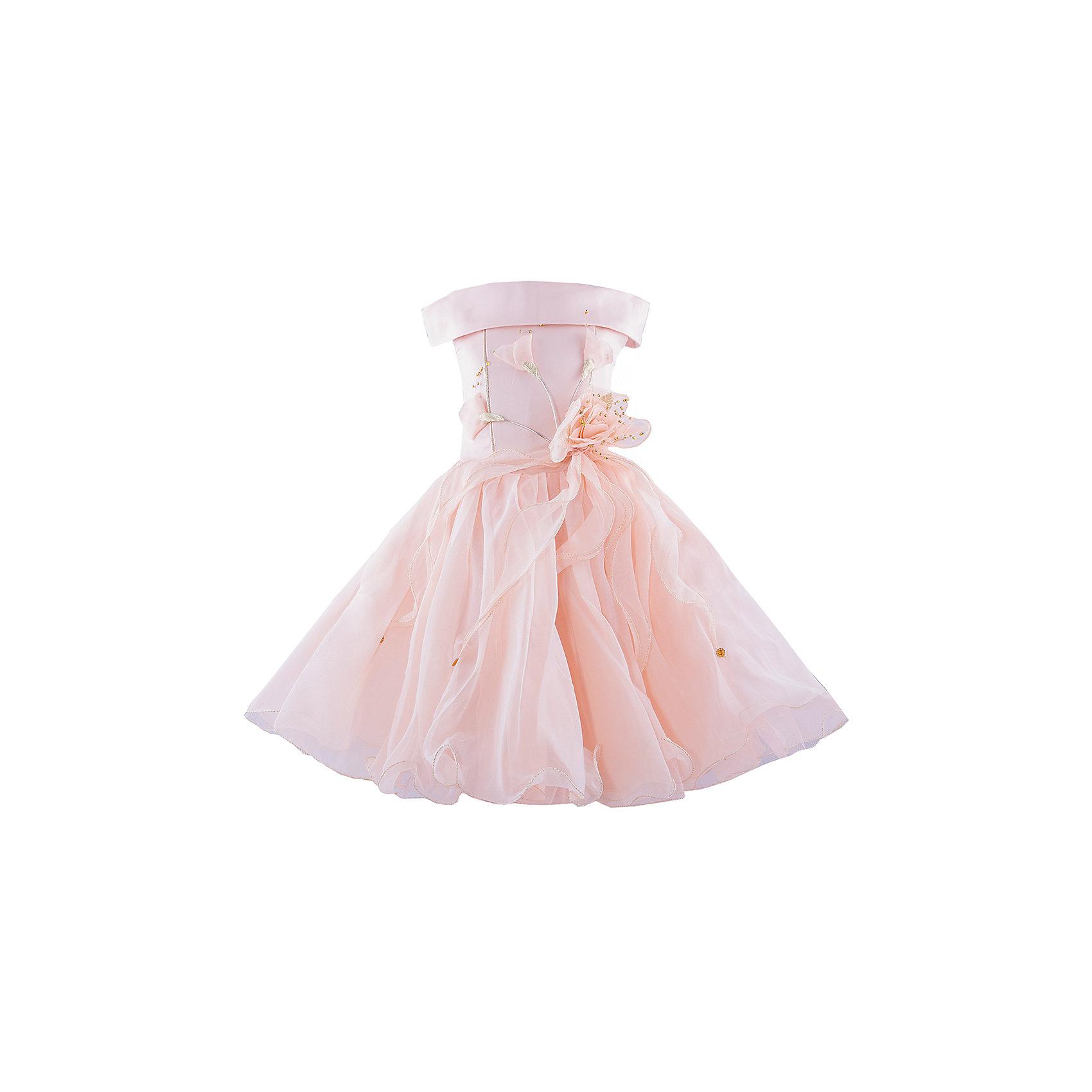 Нарядное платье ШармельНарядное платье для девочки от российской марки Шармель<br><br>Платье как у принцессы - мечта каждой девочки. Данная модель с пышным подолом смотрится очень празднично и воздушно. На любом празднике ребенок в нем будет выглядеть нарядно и торжественно.<br><br>Особенности модели:<br><br>- состав: 100% полиэстер; подкл.: 100% хлопок<br>- материал - с блеском;<br>- цвет - персиковый;<br>- подол - многослойный, пышный, с полужестким каркасом из сетки;<br>- без рукавов;<br>- можно утянуть лиф шнуровкой;<br>- сзади застежка-молния;<br>- резинка на прорезях для рукавов;<br>- лиф жесткий, украшен цветами из органзы с золотистой фурнитурой.<br><br>Дополнительная информация:<br><br>Габариты:<br><br>длина по спинке - 71 см.<br><br>* соответствует размеру 104/116<br><br>Нарядное платье для девочки от российской марки Шармель можно купить в нашем магазине.<br><br>Ширина мм: 236<br>Глубина мм: 16<br>Высота мм: 184<br>Вес г: 177<br>Цвет: бежевый<br>Возраст от месяцев: 24<br>Возраст до месяцев: 36<br>Пол: Женский<br>Возраст: Детский<br>Размер: 92/98,104/116<br>SKU: 4243370