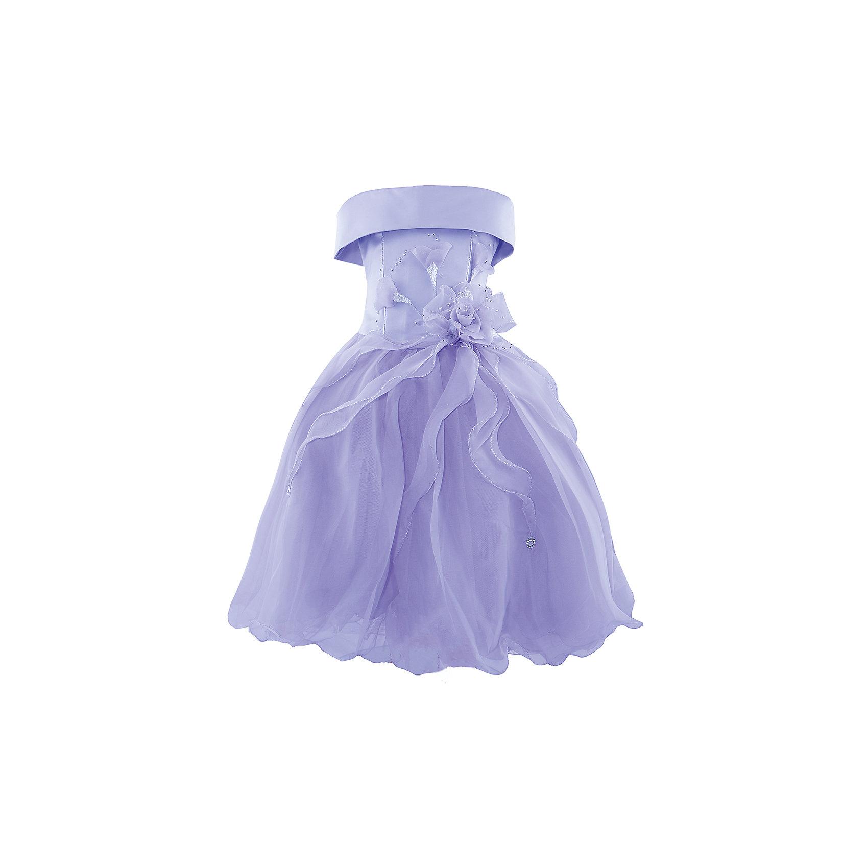 Нарядное платье ШармельНарядное платье для девочки от российской марки Шармель<br><br>Красивое пышное платье как у принцессы - мечта каждой девочки. Данное платье смотрится очень празднично и воздушно. На любом празднике ребенок в нем будет выглядеть нарядно, эффектно и торжественно.<br><br>Особенности модели:<br><br>- состав: 100% полиэстер; подкл.: 100% хлопок<br>- материал - с блеском;<br>- цвет - сиреневый;<br>- подол - многослойный, пышный, с полужестким каркасом из сетки;<br>- без рукавов;<br>- можно утянуть лиф шнуровкой;<br>- сзади застежка-молния;<br>- резинка на прорезях для рукавов;<br>- лиф жесткий, украшен цветами из органзы с серебристой фурнитурой.<br><br>Дополнительная информация:<br><br>Габариты:<br><br>длина по спинке - 71 см.<br><br>* соответствует размеру 104/116<br><br>Нарядное платье для девочки от российской марки Шармель можно купить в нашем магазине.<br><br>Ширина мм: 236<br>Глубина мм: 16<br>Высота мм: 184<br>Вес г: 177<br>Цвет: фиолетовый<br>Возраст от месяцев: 48<br>Возраст до месяцев: 72<br>Пол: Женский<br>Возраст: Детский<br>Размер: 104/116<br>SKU: 4243374