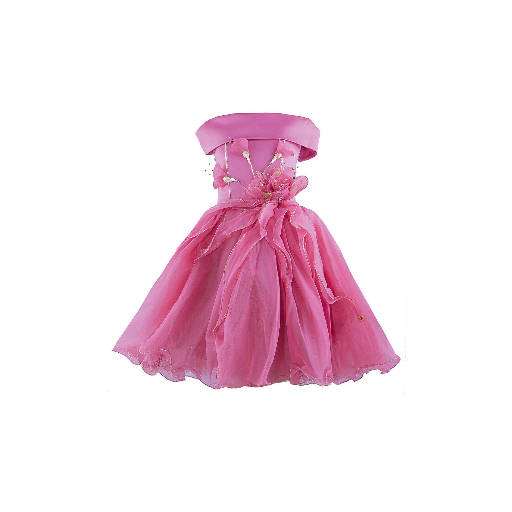 Нарядное платье ШармельОдежда<br>Нарядное платье для девочки от российской марки Шармель<br><br>Красивое пышное платье как у принцессы - мечта каждой девочки. Данное платье смотрится очень празднично и воздушно. На любом празднике ребенок в нем будет выглядеть нарядно, эффектно и торжественно.<br><br>Особенности модели:<br><br>- состав: 100% полиэстер; подкл.: 100% хлопок<br>- материал - с блеском;<br>- цвет - темно-розовый;<br>- подол - многослойный, пышный, с полужестким каркасом из сетки;<br>- без рукавов;<br>- можно утянуть лиф шнуровкой;<br>- сзади застежка-молния;<br>- резинка на прорезях для рукавов;<br>- лиф жесткий, украшен цветами из органзы с серебристой фурнитурой.<br><br>Дополнительная информация:<br><br>Габариты:<br><br>длина по спинке - 61 см.<br><br>* соответствует размеру 92/98<br><br>Нарядное платье для девочки от российской марки Шармель можно купить в нашем магазине.<br><br>Ширина мм: 236<br>Глубина мм: 16<br>Высота мм: 184<br>Вес г: 177<br>Цвет: розовый<br>Возраст от месяцев: 24<br>Возраст до месяцев: 36<br>Пол: Женский<br>Возраст: Детский<br>Размер: 92/98,104/116<br>SKU: 4243378