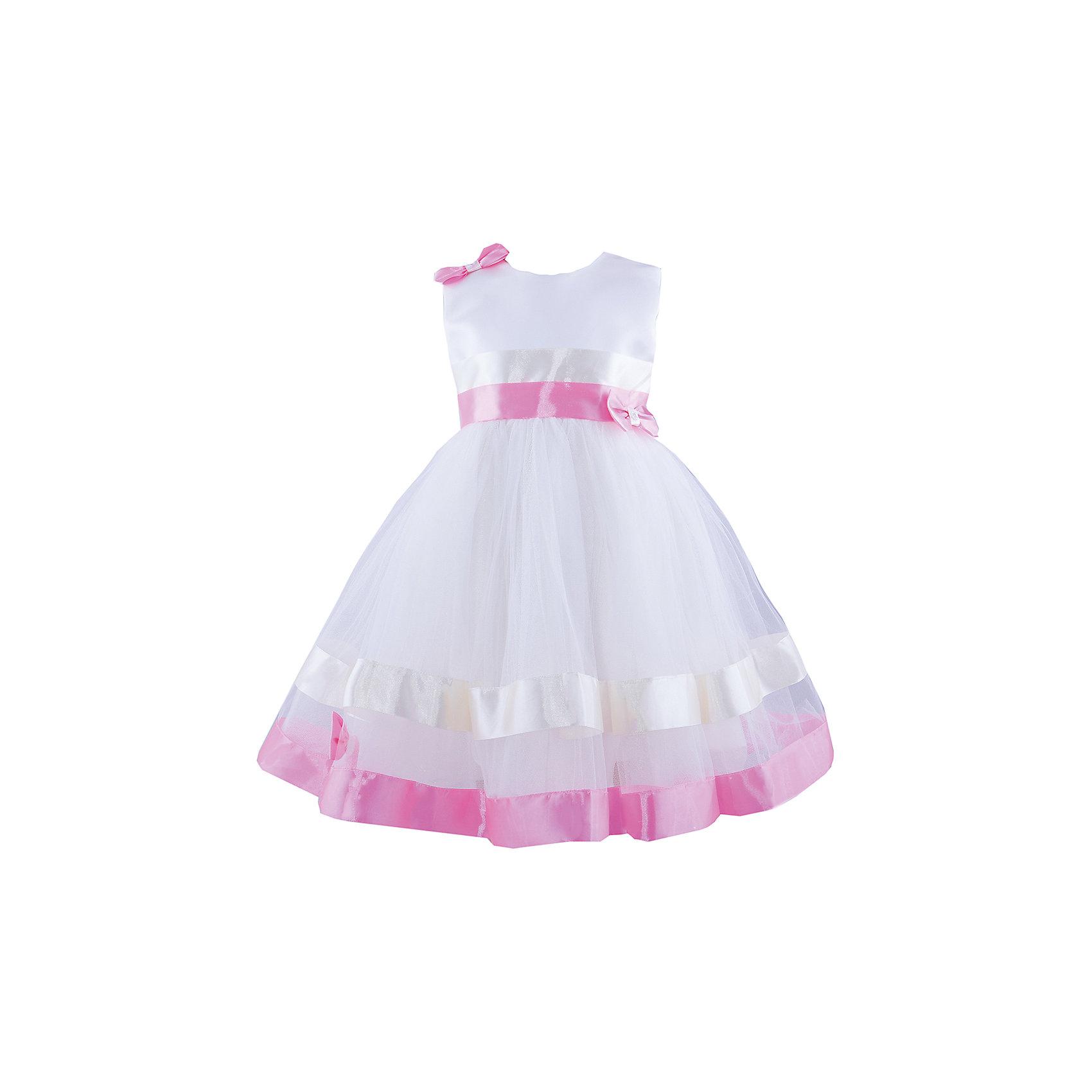 Нарядное платье ШармельНарядное платье для девочки от российской марки Шармель<br><br>Очень красивое платье отлично подойдет для праздника или похода в гости. В любой ситуации ребенок   в нем будет выглядеть достойно и оригинально.<br><br>Особенности модели:<br><br>- состав: 100% полиэстер; подкл.: 100% хлопок<br>- материал - разной фактуры, атласные ленты;<br>- цвет - молочный, бежевый, розовый;<br>- подол - многослойный, пышный, с полужестким каркасом из сетки;<br>- без рукавов;<br>- на плече и поясе - бант со стразами;<br>- сзади застежка-молния;<br>- пояс завязывается сзади на бант;<br>- талия завышена.<br><br>Дополнительная информация:<br><br>Габариты:<br><br>длина по спинке - 62 см.<br><br>* соответствует размеру 104/116<br><br>Нарядное платье для девочки от российской марки Шармель<br><br>Ширина мм: 236<br>Глубина мм: 16<br>Высота мм: 184<br>Вес г: 177<br>Цвет: бежевый/розовый<br>Возраст от месяцев: 24<br>Возраст до месяцев: 36<br>Пол: Женский<br>Возраст: Детский<br>Размер: 92/98,104/116<br>SKU: 4243394