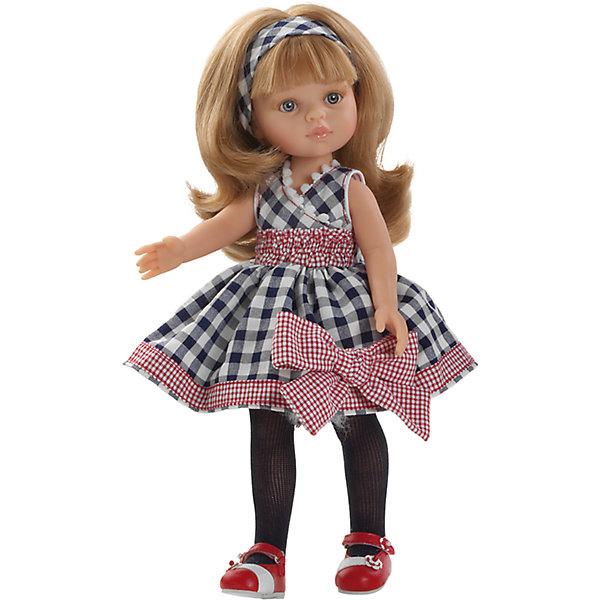 Кукла Карла Зима, 32 см, Paola ReinaКуклы<br>Кукла Карла Зима, 32 см, Paola Reina (Паола Рейна) – очаровательная кукла в модном наряде станет прекрасным подарком для вашей девочки.<br>Кукла Карла Зима, Paola Reina (Паола Рейна) – красивая кукла, которая с радостью станет верной подружкой вашей девочке. У куклы красивые большие глазки, невероятно длинные реснички и длинные светлые волосы, которые малышка сможет расчесывать и укладывать в самые разнообразные прически. Карла одета в оригинальное клетчатое платье с пышной юбкой и большим бантом, на ногах красуются красные босоножки, которые стильно смотрятся с черными колготками. Кукла имеет уникальный, неповторимый дизайн лица и тела - все мельчайшие делали, идеально выполнены и проработаны. Голова, руки и ножки двигаются, глаза не закрываются. Особый шарм кукле придает приятный и легкий ванильный аромат. Кукла изготовлена из качественного и экологически чистого винила. Благодаря пяти точкам артикуляции и мягкости винила, ее удобно переодевать.<br><br>Дополнительная информация:<br><br>- Ручная работа (ресницы, щечки, губы, прическа) делает кукол от Paola Reina настолько натуральными, что их лицо выглядит совсем как живое<br>- Волосы очень похожи на натуральные, они легко расчесываются и блестят<br>- Эксклюзивная одежда из высококачественного текстиля<br>- Материалы: кукла изготовлена из винила, глаза выполнены в виде кристалла из прозрачного твердого пластика, волосы сделаны из высококачественного нейлона<br>- Национальность: европейка<br>- Рост куклы: 32 см.<br>- Упаковка: картонная коробка<br>- Качество подтверждено нормами безопасности EN17 ЕЭС<br><br>Куклу Карла Зима, 32 см, Paola Reina (Паола Рейна) можно купить в нашем интернет-магазине.<br><br>Ширина мм: 110<br>Глубина мм: 230<br>Высота мм: 410<br>Вес г: 667<br>Возраст от месяцев: 36<br>Возраст до месяцев: 144<br>Пол: Женский<br>Возраст: Детский<br>SKU: 4243809