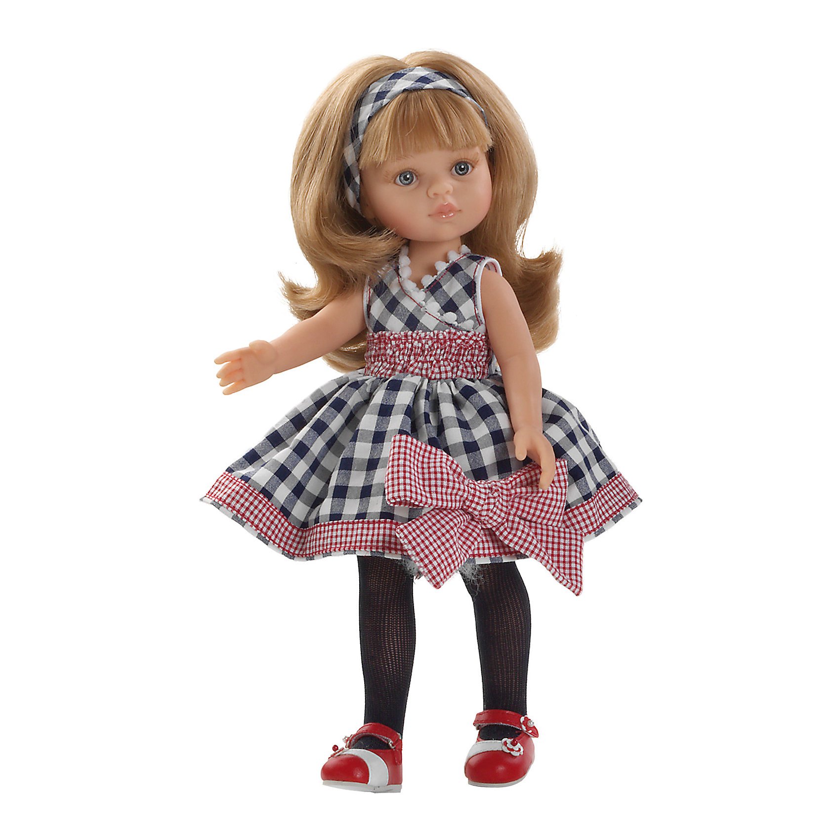 Кукла Карла Зима, 32 см, Paola ReinaКукла Карла Зима, 32 см, Paola Reina (Паола Рейна) – очаровательная кукла в модном наряде станет прекрасным подарком для вашей девочки.<br>Кукла Карла Зима, Paola Reina (Паола Рейна) – красивая кукла, которая с радостью станет верной подружкой вашей девочке. У куклы красивые большие глазки, невероятно длинные реснички и длинные светлые волосы, которые малышка сможет расчесывать и укладывать в самые разнообразные прически. Карла одета в оригинальное клетчатое платье с пышной юбкой и большим бантом, на ногах красуются красные босоножки, которые стильно смотрятся с черными колготками. Кукла имеет уникальный, неповторимый дизайн лица и тела - все мельчайшие делали, идеально выполнены и проработаны. Голова, руки и ножки двигаются, глаза не закрываются. Особый шарм кукле придает приятный и легкий ванильный аромат. Кукла изготовлена из качественного и экологически чистого винила. Благодаря пяти точкам артикуляции и мягкости винила, ее удобно переодевать.<br><br>Дополнительная информация:<br><br>- Ручная работа (ресницы, щечки, губы, прическа) делает кукол от Paola Reina настолько натуральными, что их лицо выглядит совсем как живое<br>- Волосы очень похожи на натуральные, они легко расчесываются и блестят<br>- Эксклюзивная одежда из высококачественного текстиля<br>- Материалы: кукла изготовлена из винила, глаза выполнены в виде кристалла из прозрачного твердого пластика, волосы сделаны из высококачественного нейлона<br>- Национальность: европейка<br>- Рост куклы: 32 см.<br>- Упаковка: картонная коробка<br>- Качество подтверждено нормами безопасности EN17 ЕЭС<br><br>Куклу Карла Зима, 32 см, Paola Reina (Паола Рейна) можно купить в нашем интернет-магазине.<br><br>Ширина мм: 110<br>Глубина мм: 230<br>Высота мм: 410<br>Вес г: 667<br>Возраст от месяцев: 36<br>Возраст до месяцев: 144<br>Пол: Женский<br>Возраст: Детский<br>SKU: 4243809