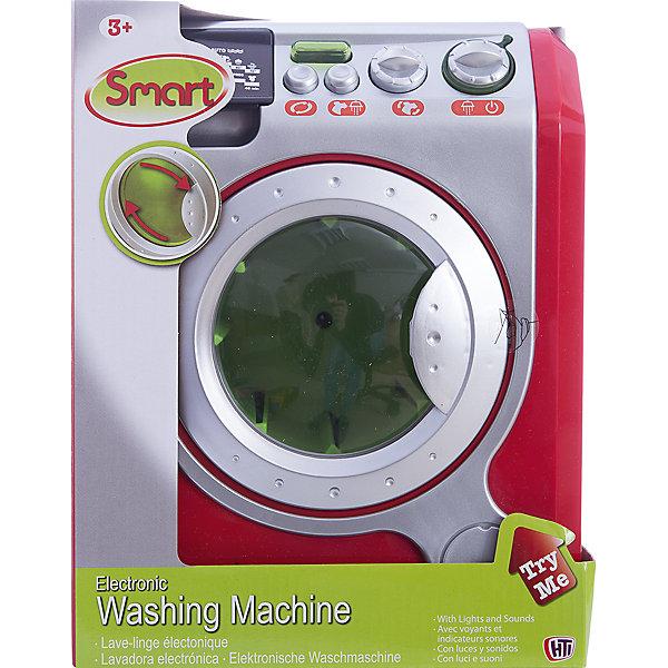 Стиральная машина Smart  HTIИгрушечная бытовая техника<br>Стиральная машина Smart  HTI – эта игрушка станет прекрасным подарком для вашей юной хозяйки.<br>Красивая стиральная машина привлечёт внимание любой девочки, которая хочет всем походить на свою маму. Ведь её куколки также нуждаются в том, чтобы их платья всегда были чистыми и красивыми. Стиральная машинка Smart по дизайну не уступает настоящей. У игрушки есть кнопки, которые включают разные программы и режимы стирки, и регуляторы, как у настоящей бытовой техники. Машина имеет открывающуюся дверцу, вращающийся барабан. Во время работы раздаётся звук, который издаёт настоящая модель стиральной машины, а если нажать на небольшие кнопочки, то появятся звуковые и световые эффекты. Модель изготовлена из безопасного и качественного пластика.<br><br>Дополнительная информация:<br><br>- Батарейки: 3 х АА / LR6 1.5V (входят в комплект)<br>- Материал: пластик<br>- Размер стиральной машины: 20 х 16 х 25 см.<br>- Размер упаковки: 25,2 х 19,7 х 17,3 см.<br>- Вес: 986 гр.<br><br>Стиральную машину Smart  HTI можно купить в нашем интернет-магазине.<br><br>Ширина мм: 252<br>Глубина мм: 197<br>Высота мм: 173<br>Вес г: 986<br>Возраст от месяцев: 36<br>Возраст до месяцев: 144<br>Пол: Женский<br>Возраст: Детский<br>SKU: 4243853