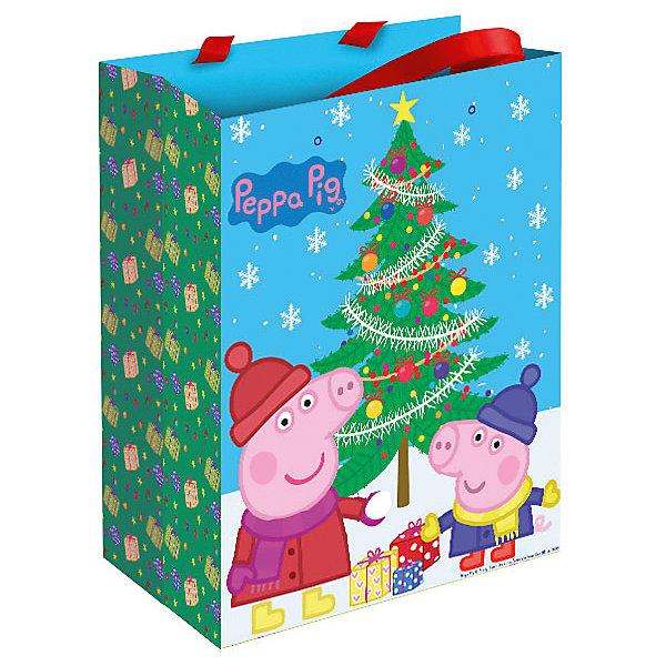 Пакет подарочный Пеппа зимой 23*18*10 см, Свинка ПеппаНовинки для детской<br>Подарочный пакет Пеппа зимой, Свинка Пеппа, поможет Вам красиво и оригинально оформить подарок для ребенка. Пакет с двумя ленточными ручками украшен ярким рисунком с изображением забавных героев популярного мультсериала Свинка Пеппа (Peppa Pig).<br><br>Дополнительная информация:<br><br>- Материал: бумага. <br>- Размер пакета: 23 х 18 х 10 см.<br>- Вес: 51 гр.<br><br>Пакет подарочный Пеппа зимой, Свинка Пеппа, можно купить в нашем интернет-магазине.<br><br>Ширина мм: 230<br>Глубина мм: 180<br>Высота мм: 5<br>Вес г: 51<br>Возраст от месяцев: 36<br>Возраст до месяцев: 84<br>Пол: Унисекс<br>Возраст: Детский<br>SKU: 4244169