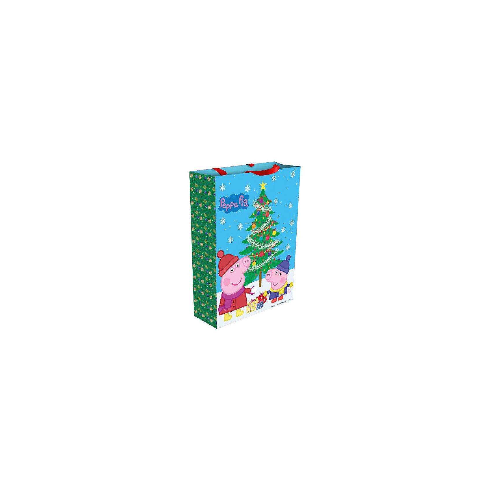 Пакет подарочный Пеппа зимой 35*25*9 см, Свинка ПеппаНовинки для детской<br>Подарочный пакет Пеппа зимой, Свинка Пеппа, поможет Вам красиво и оригинально оформить новогодний подарок для ребенка. Пакет с двумя ленточными ручками украшен ярким рисунком с изображением забавных героев популярного мультсериала Свинка Пеппа (Peppa Pig).<br><br>Дополнительная информация:<br><br>- Материал: бумага. <br>- Размер пакета: 35 х 25 х 9 см.<br>- Вес: 78 гр.<br><br>Пакет подарочный Пеппа зимой, Свинка Пеппа, можно купить в нашем интернет-магазине.<br><br>Ширина мм: 350<br>Глубина мм: 250<br>Высота мм: 5<br>Вес г: 78<br>Возраст от месяцев: 36<br>Возраст до месяцев: 84<br>Пол: Унисекс<br>Возраст: Детский<br>SKU: 4244170