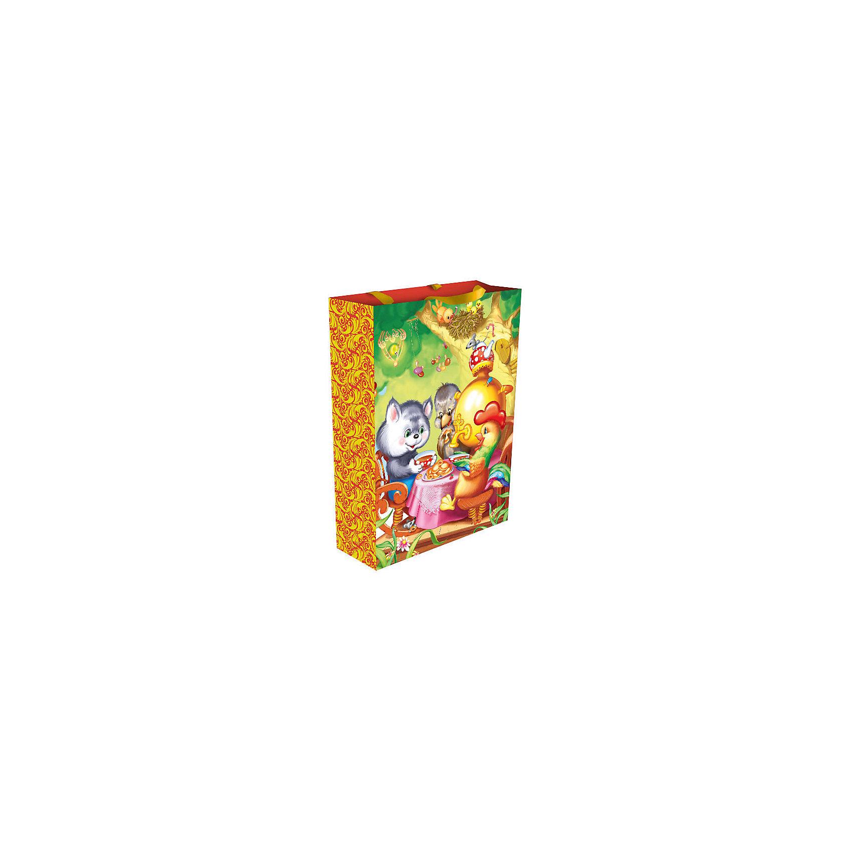 Росмэн Пакет подарочный Теремок 35*25*9 см peppa pig пакет подарочный пеппа и сьюзи 35 х 25 х 9 см