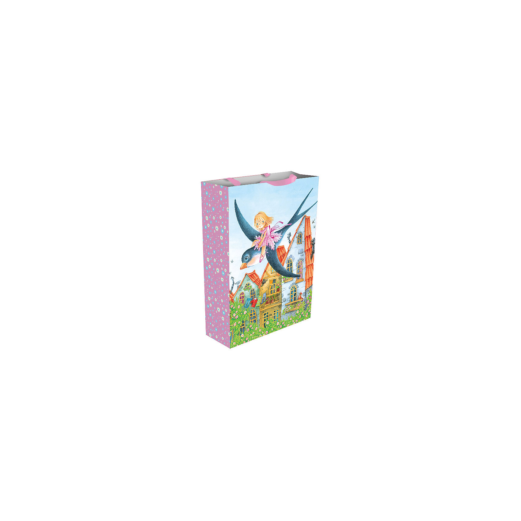 Росмэн Пакет подарочный Дюймовочка и ласточка 35*25*9 см peppa pig пакет подарочный пеппа и сьюзи 35 х 25 х 9 см