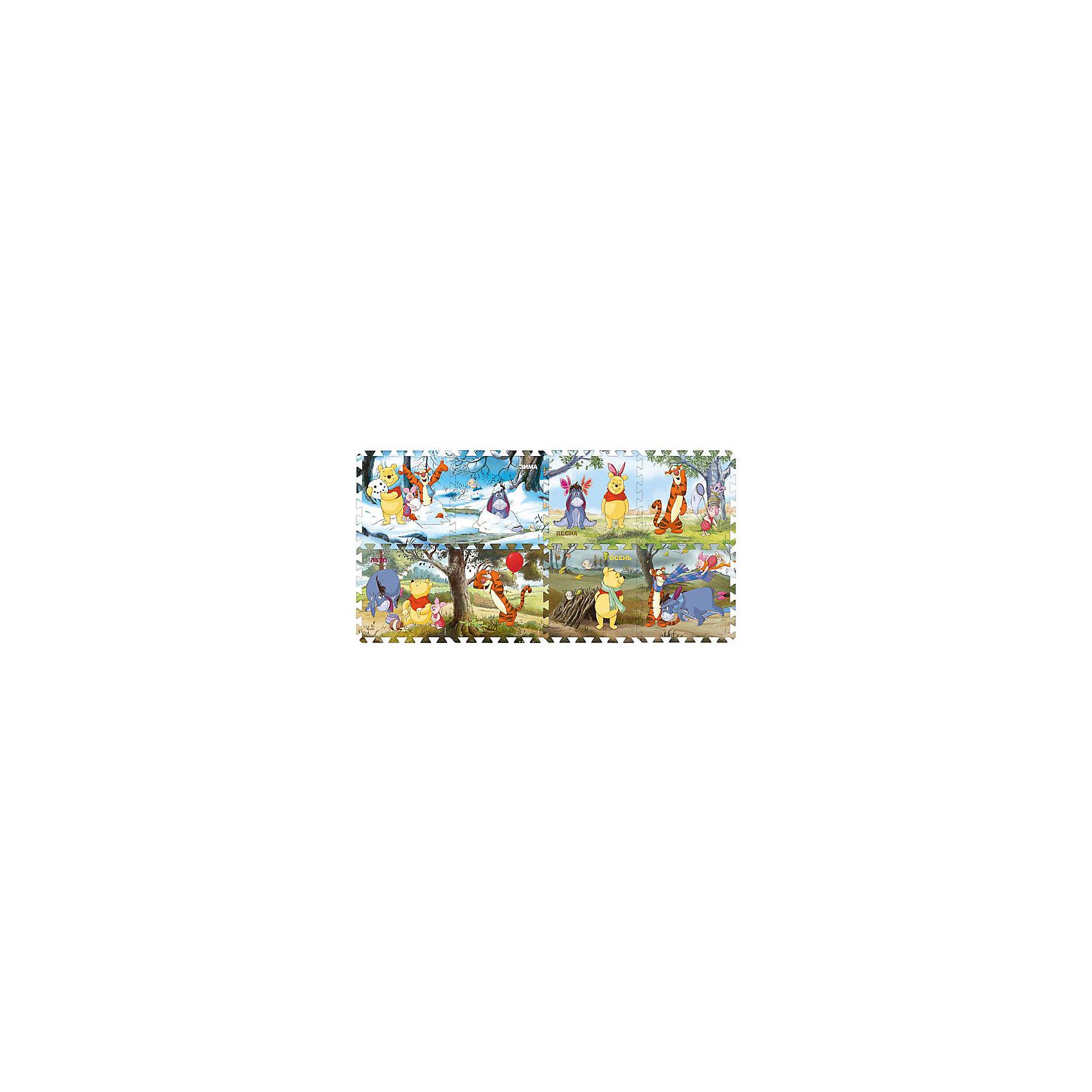 Коврик-паззл, 8 сегментов, Винни Пух, Играем вместеКоврики-пазлы<br>Коврик-пазл с изображением любимого героя - это не только практичная вещь, но и занимательная игрушка. Предложите малышу самому собрать свой коврик, а потом поиграйте на нем вместе с крохой. Безопасный и комфортный игровой коврик из пористого прорезиненного материала можно использовать как дома, так и на природе. Он легко разбирается и занимает мало места при хранении, развивает пространственное мышление, геометрические ассоциации и просто радует глаз! <br><br>Дополнительная информация:<br><br>- Материал: вспененный полимер.    <br>- Состоит из 8 сегментов.<br>- Размер одного сегмента: 30х30 см.  <br>- Сегменты можно собирать в любом порядке. <br><br>Коврик-пазл, 8 сегментов, Винни Пух, Играем вместе, можно купить в нашем магазине.<br><br>Ширина мм: 315<br>Глубина мм: 315<br>Высота мм: 315<br>Вес г: 500<br>Возраст от месяцев: 12<br>Возраст до месяцев: 36<br>Пол: Унисекс<br>Возраст: Детский<br>SKU: 4244432