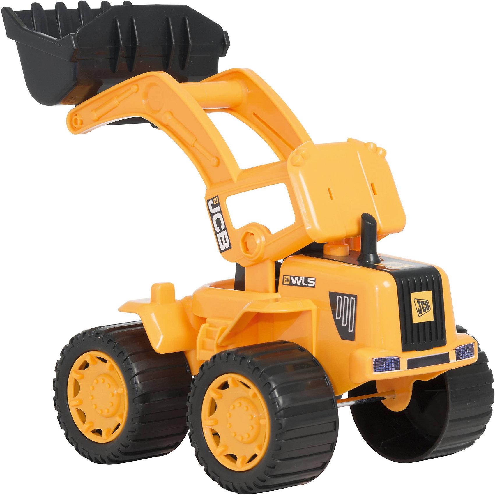 Большой автопогрузчик, 35 см, JCBМашинки<br>Большой автопогрузчик, JCB - это уменьшенная модель настоящей строительной техники от компании JCB, выполненная в высоком качестве и с большим вниманием к деталям. В этой модели есть все основные функции, которыми обладает реальная машина. Погрузчик оснащен просторной кабиной с сиденьем водителя, вместительный ковш можно поднимать и опускать. У машины мощные прорезиненные колеса, что обеспечивает прочное сцепление с поверхностью и уберегает напольное покрытие от царапин. Ваш ребенок в увлекательной форме познакомится с особенностями работы дорожно-строительной техники и откроет для себя множество новых профессий.<br><br>Дополнительная информация:<br><br>- Материал: высококачественный пластик.<br>- Размер игрушки: 35 х 22 х 20 см.<br>- Размер упаковки: 36,5 х 23 х 22,5 см.<br>- Вес: 0,863 кг.<br><br>Большой автопогрузчик, 35 см., JCB, можно купить в нашем интернет-магазине.<br><br>Ширина мм: 350<br>Глубина мм: 200<br>Высота мм: 220<br>Вес г: 863<br>Возраст от месяцев: 36<br>Возраст до месяцев: 96<br>Пол: Мужской<br>Возраст: Детский<br>SKU: 4244437