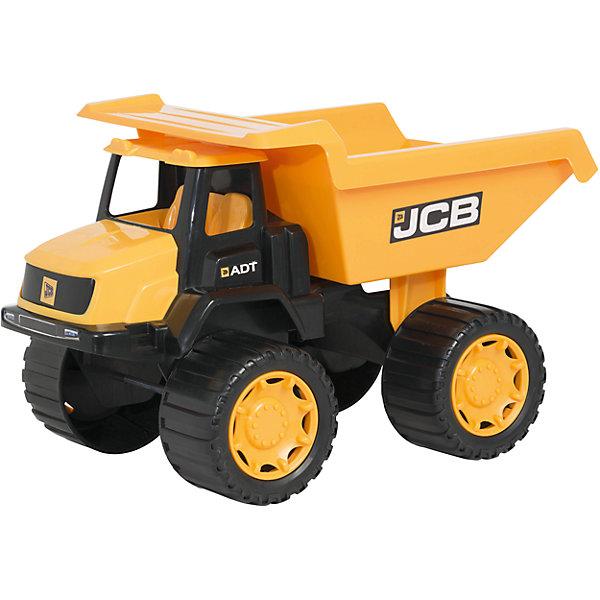 Большой самосвал, 35 см,  JCBМашинки<br>Большой самосвал, JCB - это уменьшенная модель настоящей строительной техники от компании JCB, выполненная в высоком качестве и с большим вниманием к деталям. В этой модели есть все основные функции, которыми обладает реальная машина. Самосвал оснащен просторной кабиной с сиденьем водителя. Вместительный кузов поднимается и опускается, что делает игрушку особенно интересной для игр на улице. Кузов можно заполнять песком, а затем разгружать, как при настоящих строительных работах. У машины мощные прорезиненные колеса, что обеспечивает прочное сцепление с поверхностью и уберегает напольное покрытие от царапин. Игрушка изготовлена из высококачественной прочной пластмассы, ребенок сможет ещё дольше играть с ней, не боясь поломок.<br><br>Дополнительная информация:<br><br>- Материал: высококачественный пластик.<br>- Размер игрушки: 35 х 22 х 20 см.<br>- Размер упаковки: 36,5 х 23 х 22,5 см.<br>- Вес: 1,151 кг.<br><br>Большой самосвал, 35 см., JCB, можно купить в нашем интернет-магазине.<br><br>Ширина мм: 350<br>Глубина мм: 200<br>Высота мм: 220<br>Вес г: 1151<br>Возраст от месяцев: 36<br>Возраст до месяцев: 96<br>Пол: Мужской<br>Возраст: Детский<br>SKU: 4244438