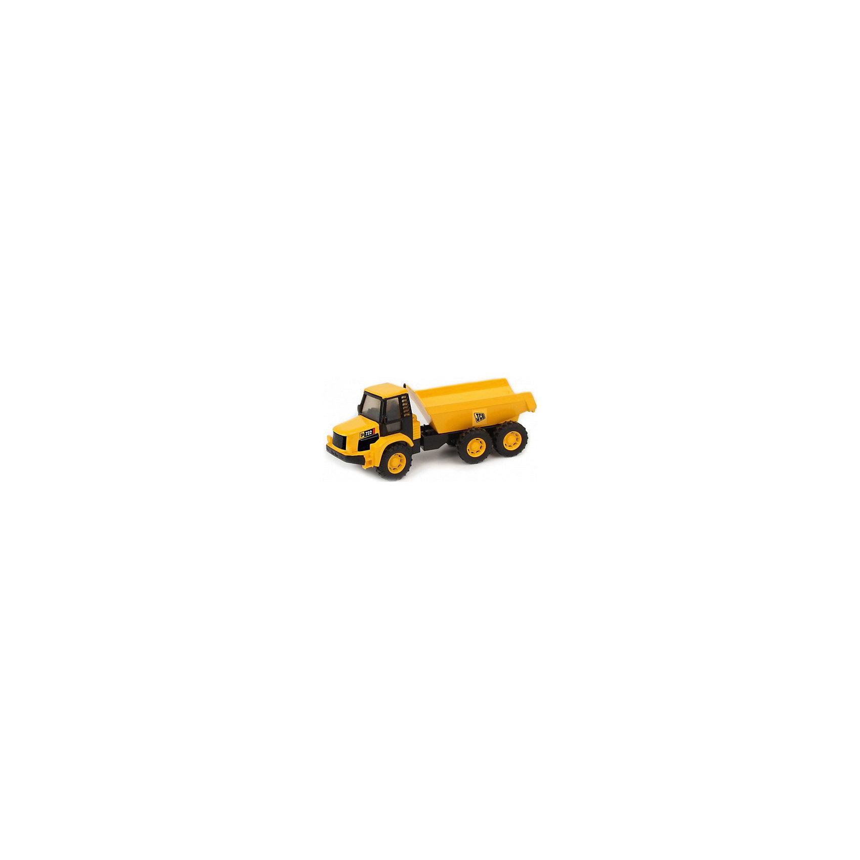 Самосвал, JCBСамосвал, JCB - это уменьшенная модель настоящей строительной техники от компании JCB, выполненная в высоком качестве и с большим вниманием к деталям. В этой модели есть все основные функции, которыми обладает реальная машина. Самосвал оснащен просторной застекленной кабиной с сиденьем водителя. Вместительный кузов поднимается и опускается, что делает игрушку особенно интересной для игр на улице. Кузов можно заполнять песком или мелкими предметами, а затем разгружать, как при настоящих строительных работах. У машины три мощных прорезиненных пары колес, что обеспечивает прочное сцепление с поверхностью и уберегает напольное покрытие от царапин. Игрушка изготовлена из высококачественной прочной пластмассы, можно ещё дольше играть с ней, не боясь поломок. Ваш ребенок в увлекательной форме познакомится с особенностями работы дорожно-строительной техники и откроет для себя множество новых профессий.<br><br>Дополнительная информация:<br><br>- Материал: высококачественный пластик.<br>- Масштаб 1:32.<br>- Размер игрушки: 17,5 х 6 х 7 см.<br>- Размер упаковки: 21,2 x 9,2 x 8 см.<br>- Вес: 0,221 кг.<br><br>Самосвал, JCB, можно купить в нашем интернет-магазине.<br><br>Ширина мм: 175<br>Глубина мм: 60<br>Высота мм: 70<br>Вес г: 221<br>Возраст от месяцев: 36<br>Возраст до месяцев: 96<br>Пол: Мужской<br>Возраст: Детский<br>SKU: 4244442
