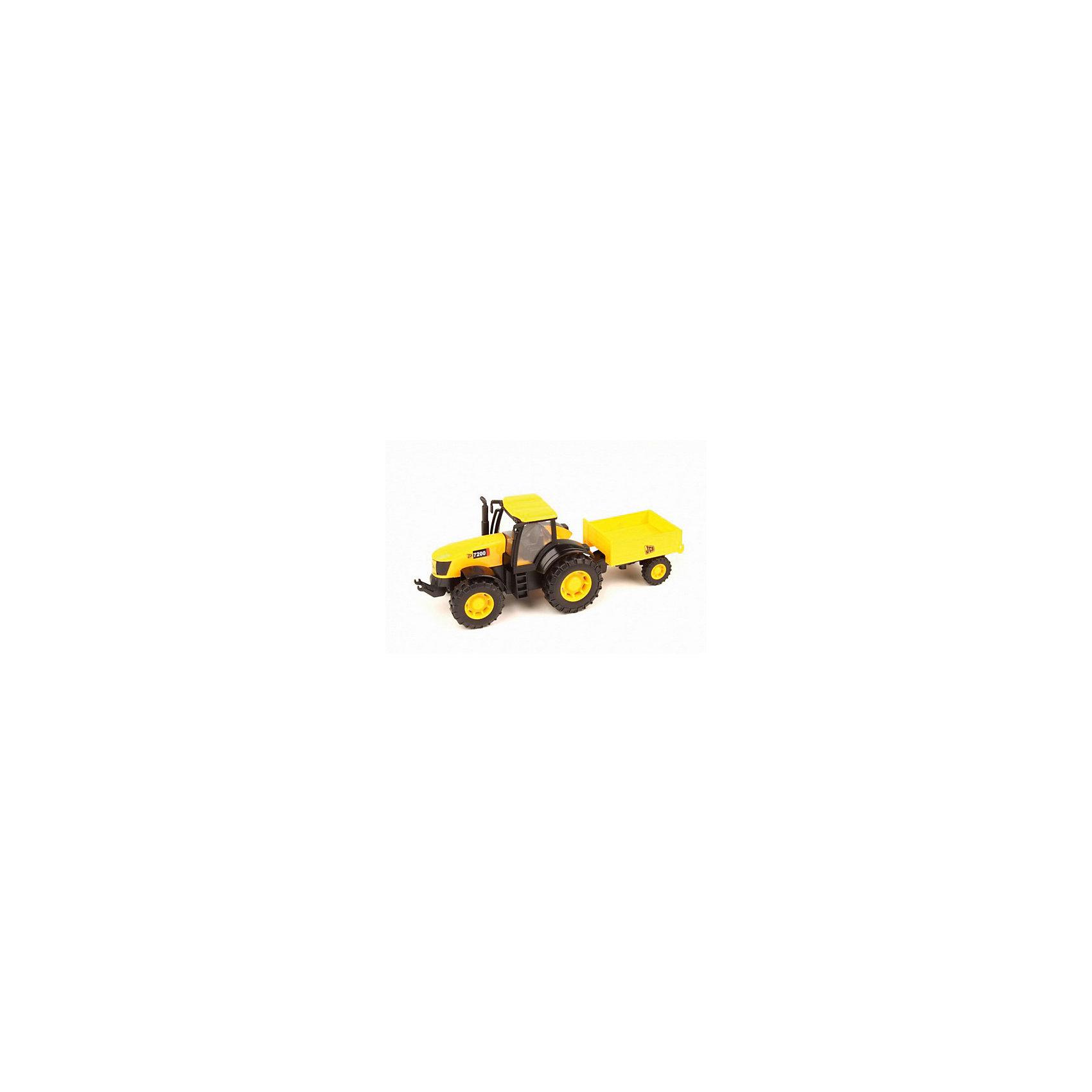 Трактор, JCBТрактор, JCB - это уменьшенная модель настоящей строительной техники от компании JCB, выполненная в высоком качестве и с большим вниманием к деталям. В этой модели есть все основные функции, которыми обладает реальная машина. Трактор оснащен просторной застекленной кабиной с сиденьем водителя, спереди имеется фаркоп. Дополнительные детали, такие как лесенка в кабину, выхлопная труба, зеркало заднего вида, придают машине особую реалистичность. Прицеп сзади можно заполнять песком или мелкими предметам, что делает игрушку особенно интересной для игр на улице. Мощные прорезиненные колеса обеспечивают прочное сцепление с поверхностью и уберегает напольное покрытие от царапин. Игрушка изготовлена из высококачественной прочной пластмассы, ребенок сможет ещё дольше играть с ней, не боясь поломок.<br><br>Дополнительная информация:<br><br>- Материал: высококачественный пластик.<br>- Масштаб 1:32.<br>- Размер игрушки: 17,5 х 6 х 7 см.<br>- Размер упаковки: 21,2 x 9,2 x 8 см.<br>- Вес: 0,221 кг.<br><br>Трактор, JCB, можно купить в нашем интернет-магазине.<br><br>Ширина мм: 175<br>Глубина мм: 60<br>Высота мм: 70<br>Вес г: 221<br>Возраст от месяцев: 36<br>Возраст до месяцев: 96<br>Пол: Мужской<br>Возраст: Детский<br>SKU: 4244444