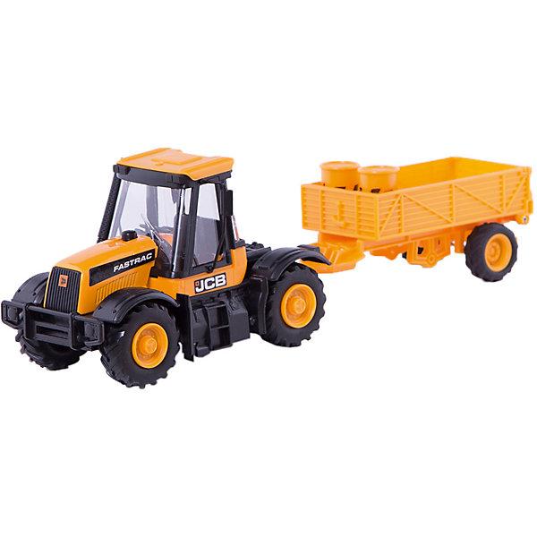 Трактор 1:32, JCBМашинки<br>Трактор, JCB - это уменьшенная модель настоящей строительной техники от компании JCB, выполненная в высоком качестве и с большим вниманием к деталям. В этой модели есть все основные функции, которыми обладает реальная машина. Трактор оснащен просторной застекленной кабиной с сиденьем водителя. Дополнительные детали, такие как лесенка в кабину, дворники на стекле, зеркало заднего вида, придают машине особую реалистичность. Съемный прицеп сзади можно заполнять песком или мелкими предметам, что делает игрушку особенно интересной для игр на улице. Мощные прорезиненные колеса обеспечивают прочное сцепление с поверхностью и уберегает напольное покрытие от царапин. Трактор изготовлен из высококачественной прочной пластмассы, ребенок сможет ещё дольше играть с ним, не боясь поломок.<br><br>Дополнительная информация:<br><br>- Материал: высококачественный пластик.<br>- Масштаб 1:32.<br>- Размер игрушки: 27 х 10 х 8 см.<br>- Вес: 0,398 кг.<br><br>Трактор, JCB, можно купить в нашем интернет-магазине.<br>Ширина мм: 270; Глубина мм: 100; Высота мм: 80; Вес г: 398; Возраст от месяцев: 36; Возраст до месяцев: 96; Пол: Мужской; Возраст: Детский; SKU: 4244447;