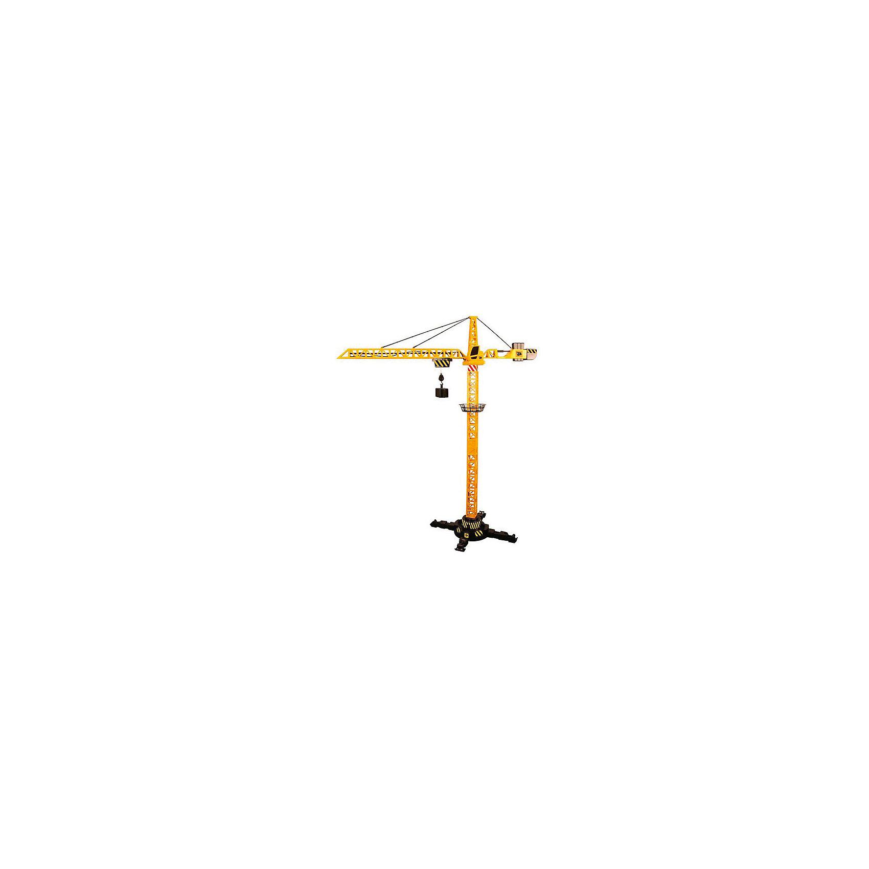 Радиоуправляемый кран, JCBПодъемный кран - незаменимая техника на любой стройке. С радиоуправляемым краном JCB стройплощадка маленького строителя станет еще более реалистичной. Игрушка представляет собой уменьшенную модель настоящей строительной техники от компании JCB, выполненную в высоком качестве и с большим вниманием к деталям. В кране есть все основные функции, которыми обладает реальная машина. С помощью пульта радиоуправления он способен переносить грузы с одного места на другое, поднимать и опускать их на нужную высоту. Кран поворачивается вокруг своей оси, стрела движется вправо/влево. В основании машины расположены опоры, которые обеспечивает ему устойчивость при перемещении грузов.<br>Кран легко и быстро собирается и разбирается - достаточно отцепить три крючка и стрела сложится. В комплект также входят съемные грузы для крана. Ваш ребенок в увлекательной форме познакомится с особенностями работы дорожно-строительной техники и откроет для себя множество новых профессий.<br><br>Дополнительная информация:<br><br>- В комплекте: кран, пульт управления, ведро для груза, поддон, груз в виде блока.<br>- Материал: высококачественный пластик.<br>- Требуются батарейки: 3 х 1,5V AA (в комплект не входят).<br>- Высота крана: 120 см.<br>- Размер упаковки: 77 х 47 х 13 см.<br>- Вес: 1,697 кг.<br><br>Радиоуправляемый кран, JCB, можно купить в нашем интернет-магазине.<br><br>Ширина мм: 470<br>Глубина мм: 130<br>Высота мм: 590<br>Вес г: 1697<br>Возраст от месяцев: 36<br>Возраст до месяцев: 96<br>Пол: Мужской<br>Возраст: Детский<br>SKU: 4244450