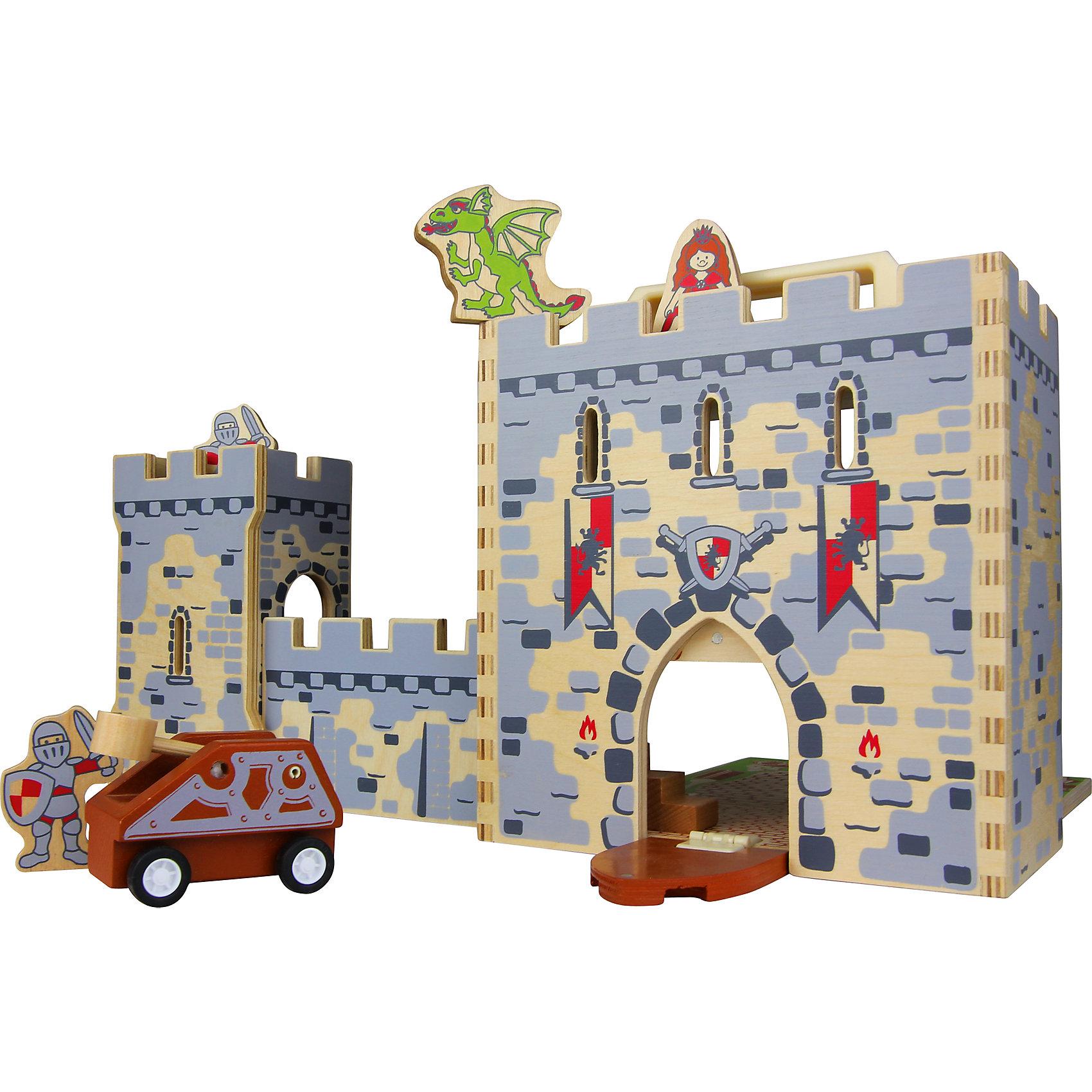 Игровой набор Замок, ZenitИдеи подарков<br>Набор Замок, Zenit, со множеством игровых возможностей обязательно понравится Вашему ребенку. Компания Zenit Wooden Toys - всемирно известный производитель высококачественных товаров из дерева. Все детские товары этой марки отвечают самым высоким стандартам качества и безопасности. Набор выполнен в виде компактного деревянного сундучка с ручкой, который раскладываясь, превращается в настоящий рыцарский замок с мощными каменными стенами и зубчатыми сторожевыми башнями. Дополнительные игровые аксессуары, такие как фигурки рыцарей, принцессы и дракона, машина с катапультой позволят придумать и разыграть множество сценок из рыцарской жизни.<br><br>Дополнительная информация:<br><br>- В комплекте: замок, 3 фигурки, машинка.<br>- Материал: древесина, ДСП.<br>- Размер упаковки: 23 х 21 х 11,5 см. <br>- Вес: 2 кг. <br><br>Игровой набор Замок, Zenit, можно купить в нашем интернет-магазине.<br><br>Ширина мм: 230<br>Глубина мм: 210<br>Высота мм: 115<br>Вес г: 2000<br>Возраст от месяцев: 36<br>Возраст до месяцев: 96<br>Пол: Унисекс<br>Возраст: Детский<br>SKU: 4248707
