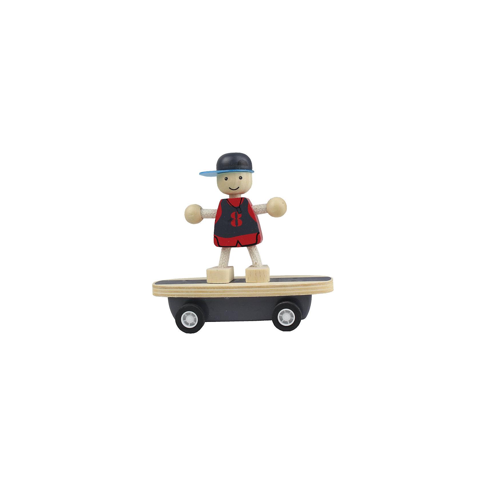 Скейтер, ZenitЗабавная деревянная игрушка Скейтер, Zenit, станет приятным сюрпризом для Вашего ребенка. Компания Zenit Wooden Toys - всемирно известный производитель высококачественных товаров из дерева. Все детские товары этой марки отвечают самым высоким стандартам качества и безопасности. В набор входит деревянная доска-скейт на колесиках и веселый человечек, который с Вашей помощью будет выделывать головокружительные трюки. Все детали округлой формы, без острых углов, очень удобны для ручек малыша. Игрушка развивает фантазию и воображение, тренирует ловкость и мелкую моторику.<br><br>Дополнительная информация:<br><br>- В комплекте: доска-скейт, фигурка.<br>- Материал: древесина, ДСП.<br>- Размер упаковки: 16 x 12,5 x 8,5 см. <br>- Вес: 150 гр. <br><br>Скейтер, Zenit, можно купить в нашем интернет-магазине.<br><br>Ширина мм: 160<br>Глубина мм: 125<br>Высота мм: 85<br>Вес г: 150<br>Возраст от месяцев: 36<br>Возраст до месяцев: 96<br>Пол: Унисекс<br>Возраст: Детский<br>SKU: 4248714