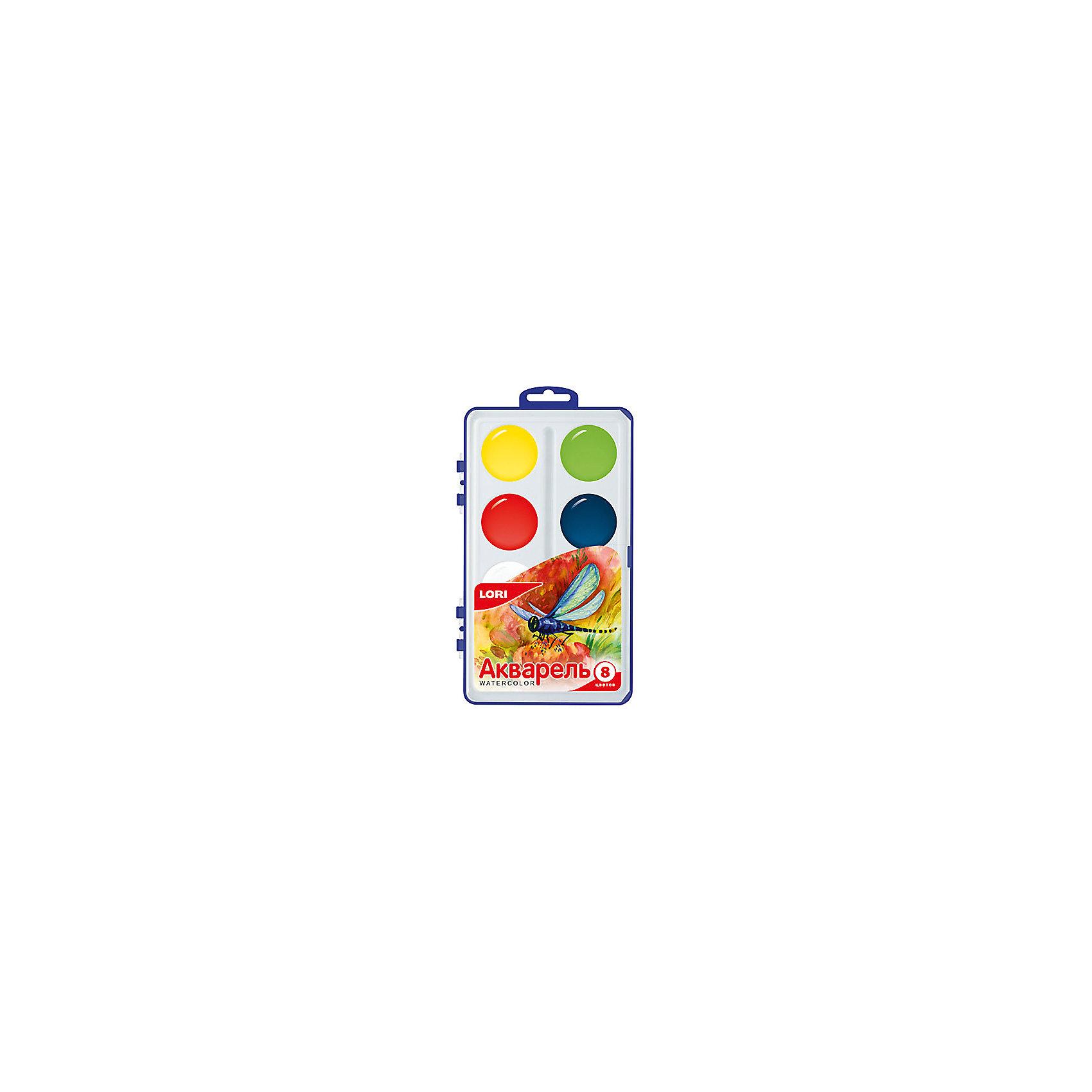 Краски акварельные, 8 цв.Краски акварельные, 8 цв. - этот качественный набор для детского творчества идеален для начинающих художников.<br>Акварельные краски хорошо подойдут как для школьных занятий, так и для детского творчества в свободное время. В наборе 8 акварельных красок в кюветах увеличенного размера. Они удобны для использования маленькими детьми с еще слабо развитой моторикой рук. Краски равномерно ложатся на бумагу, легко размываются, легко смешиваются между собой, быстро сохнут, а насыщенные тона передают всю яркость цвета. Рисование - один из самых главных методов развития творческих способностей у детей. Оно отлично развивает память, внимание, мелкую моторику, творческие и художественные способности.<br><br>Дополнительная информация:<br><br>- Количество цветов: 8<br>- Размер кювет: 37 х 7 мм.<br>- Без кисточки<br>- Упаковка: пластиковый бокс с подвесом<br>- Размер упаковки: 20,5 х 12,2 х 1,9 см.<br>- Вес: 136 гр.<br><br>Краски акварельные, 8 цв. можно купить в нашем интернет-магазине.<br><br>Ширина мм: 205<br>Глубина мм: 122<br>Высота мм: 19<br>Вес г: 136<br>Возраст от месяцев: 36<br>Возраст до месяцев: 144<br>Пол: Унисекс<br>Возраст: Детский<br>SKU: 4249885