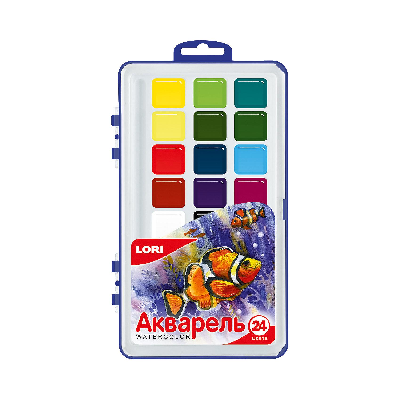 Краски акварельные, 24 цв.Краски акварельные, 24 цв. - этот качественный набор для детского творчества идеален для вашего юного художника.<br>Акварельные краски хорошо подойдут как для школьных занятий, так и для детского творчества в свободное время. В наборе 24 акварельных красок без кисточки, упакованных в удобный пластиковый бокс с подвесом. Краски имеют яркие насыщенные цвета, легко размываются, легко смешиваются между собой, равномерно ложатся на бумагу, быстро сохнут. Широкая цветовая палитра, позволит создать большое количество оттенков, как с помощью смешивания, так и благодаря добавлению разного количества воды в основную массу краски. В процессе рисования у детей развивается наглядно-образное мышление, воображение, мелкая моторика рук, творческие и художественные способности, вырабатывается усидчивость и аккуратность.<br><br>Дополнительная информация:<br><br>- Количество цветов: 24<br>- Без кисточки<br>- Упаковка: пластиковый бокс с подвесом<br>- Размер упаковки: 20,5 х 12,2 х 2,1 см.<br>- Вес: 157 гр.<br><br>Краски акварельные, 24 цв. можно купить в нашем интернет-магазине.<br><br>Ширина мм: 205<br>Глубина мм: 122<br>Высота мм: 21<br>Вес г: 157<br>Возраст от месяцев: 36<br>Возраст до месяцев: 144<br>Пол: Унисекс<br>Возраст: Детский<br>SKU: 4249886