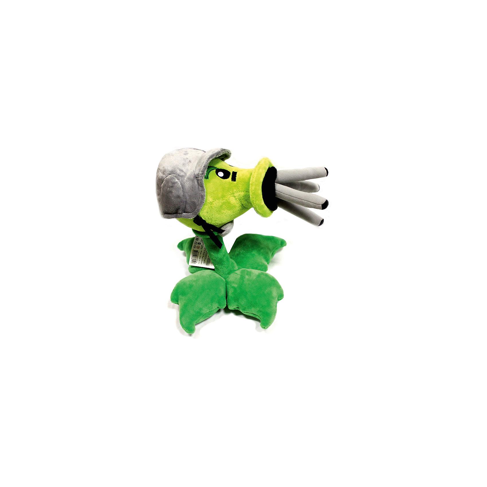 Плюшевая игрушка Горохострел Пулемет, 30 см, Растения против Зомби<br><br>Ширина мм: 30<br>Глубина мм: 24<br>Высота мм: 22<br>Вес г: 285<br>Возраст от месяцев: 36<br>Возраст до месяцев: 1188<br>Пол: Унисекс<br>Возраст: Детский<br>SKU: 4250650