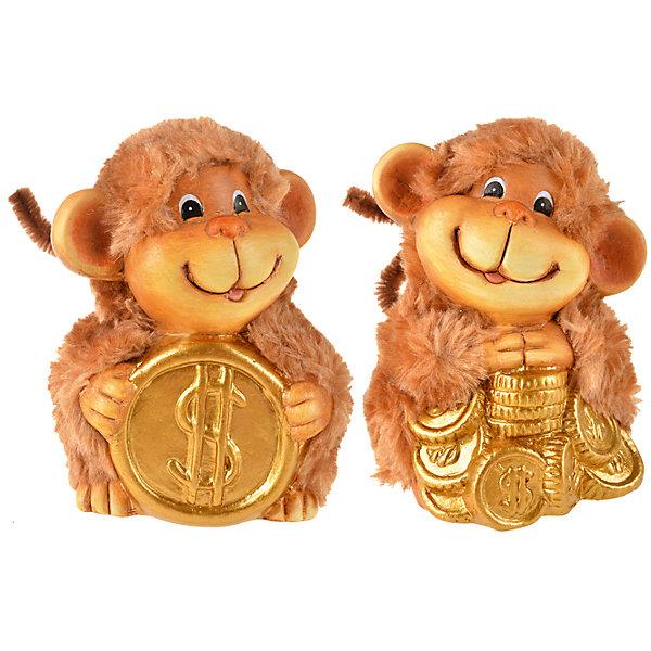 Керамический сувенир Обезьяна с монеткой, в ассортиментеНовогодние сувениры<br>Небольшой Керамический сувенир Обезьяна с монеткой, в ассортименте станет замечательным презентом коллегам и друзьям на Новый Год, а также милым аксессуаром в праздничном интерьере. Эта позолоченная обезьянка с монетами будет еще и притягивать деньги!<br><br>Дополнительная информация:<br>-Материалы: керамика, краски<br>-В ассортименте: 2 дизайна (Внимание! Заранее выбрать невозможно, при заказе нескольких возможно получение одинаковых)<br>-Размеры: 7х7х1,1 см<br>-Вес в упаковке: 100 г<br><br>Статуэтка будет талисманом в течение всего 2016 года и принесет в дом счастье, удачу и финансовое благополучие!<br><br>Керамический сувенир Обезьяна с монеткой, в ассортименте можно купить в нашем магазине.<br><br>Ширина мм: 70<br>Глубина мм: 70<br>Высота мм: 11<br>Вес г: 100<br>Возраст от месяцев: 36<br>Возраст до месяцев: 1188<br>Пол: Унисекс<br>Возраст: Детский<br>SKU: 4250991