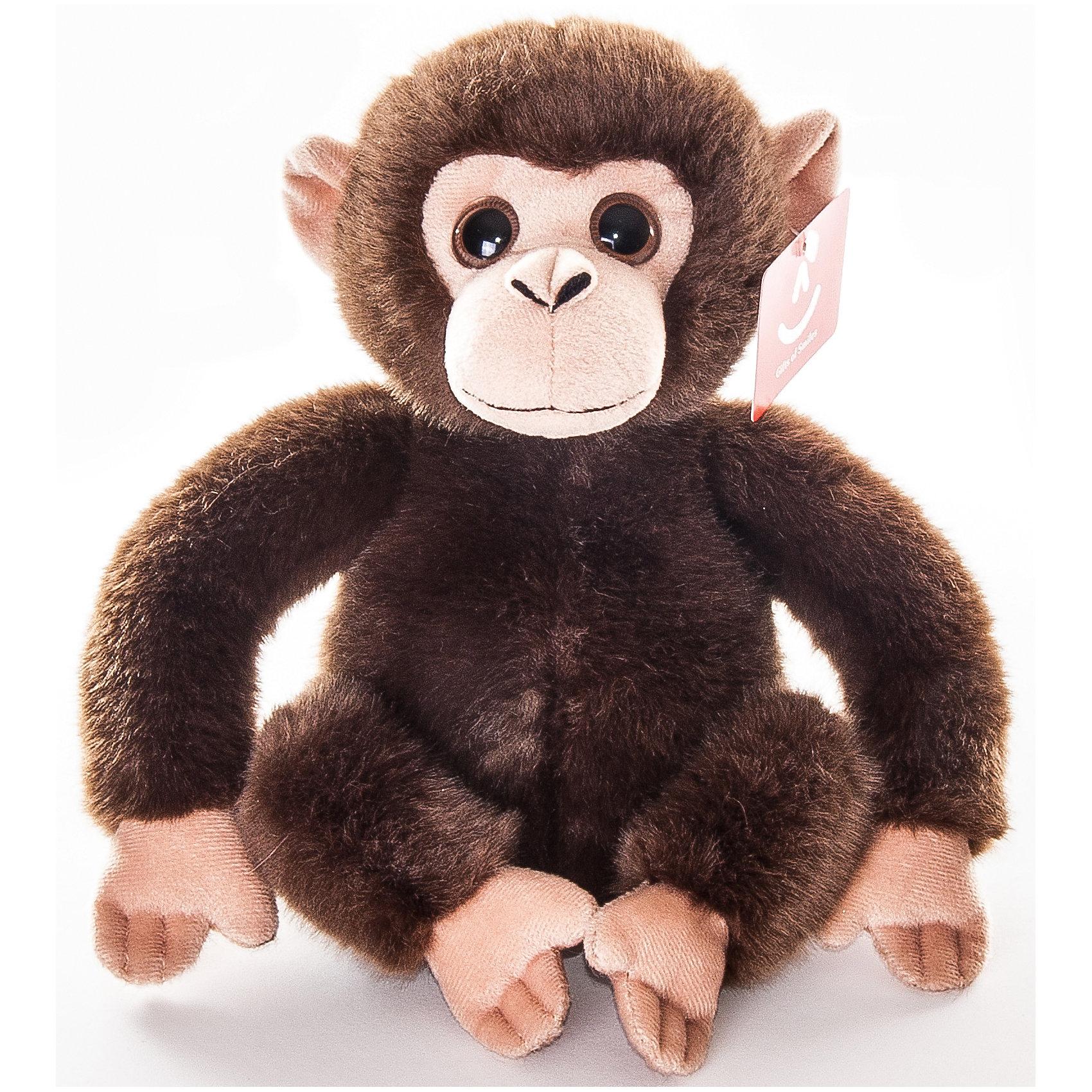 AURORA Мягкая игрушка Обезьянка тёмно-коричневая, 28 см., AURORA aurora мягкая игрушка тигр 28 см